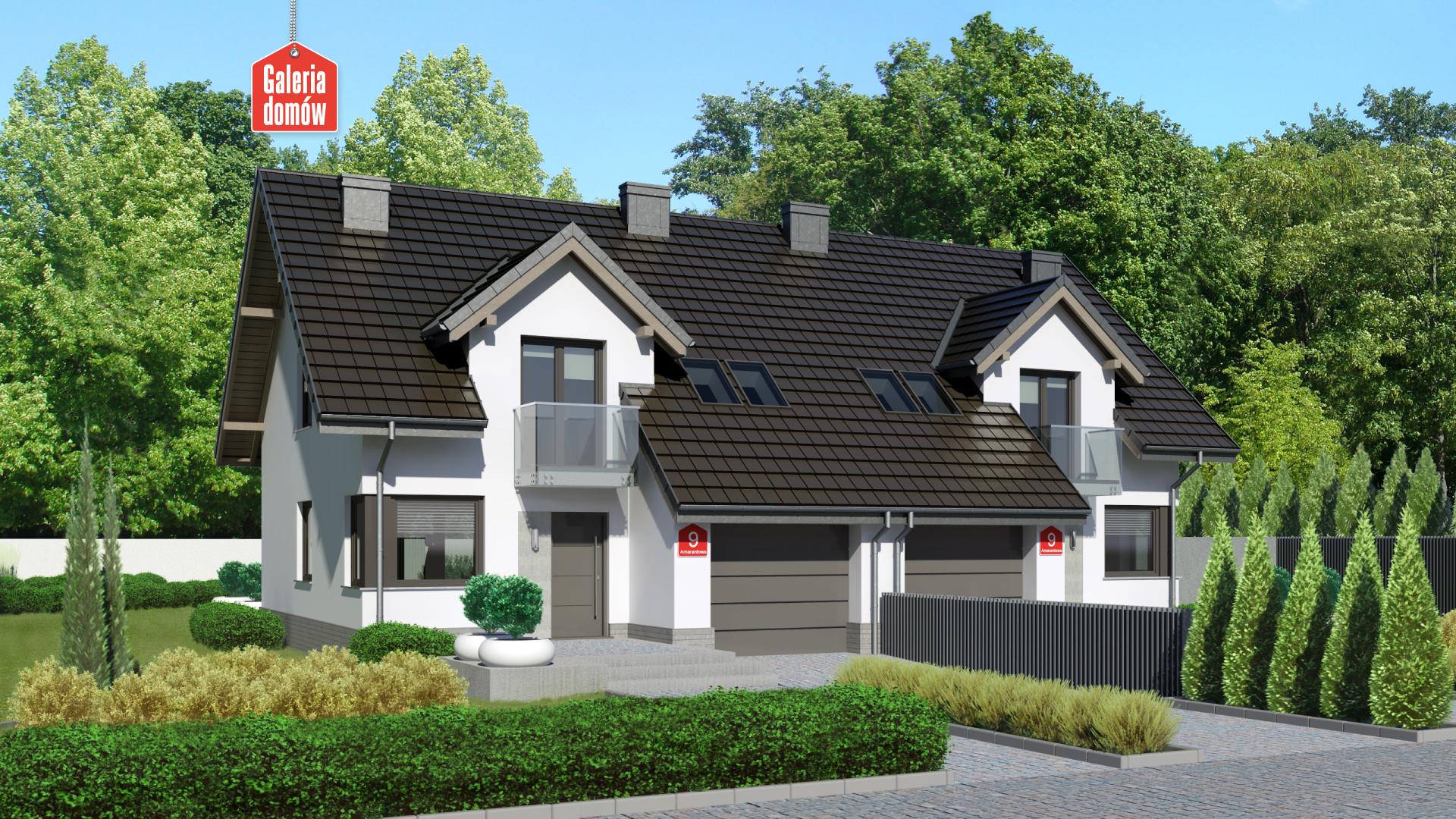 Zdjęcie projektu i wizualizacja: projekt domu Dom przy Amarantowej 9 dwulokalowy