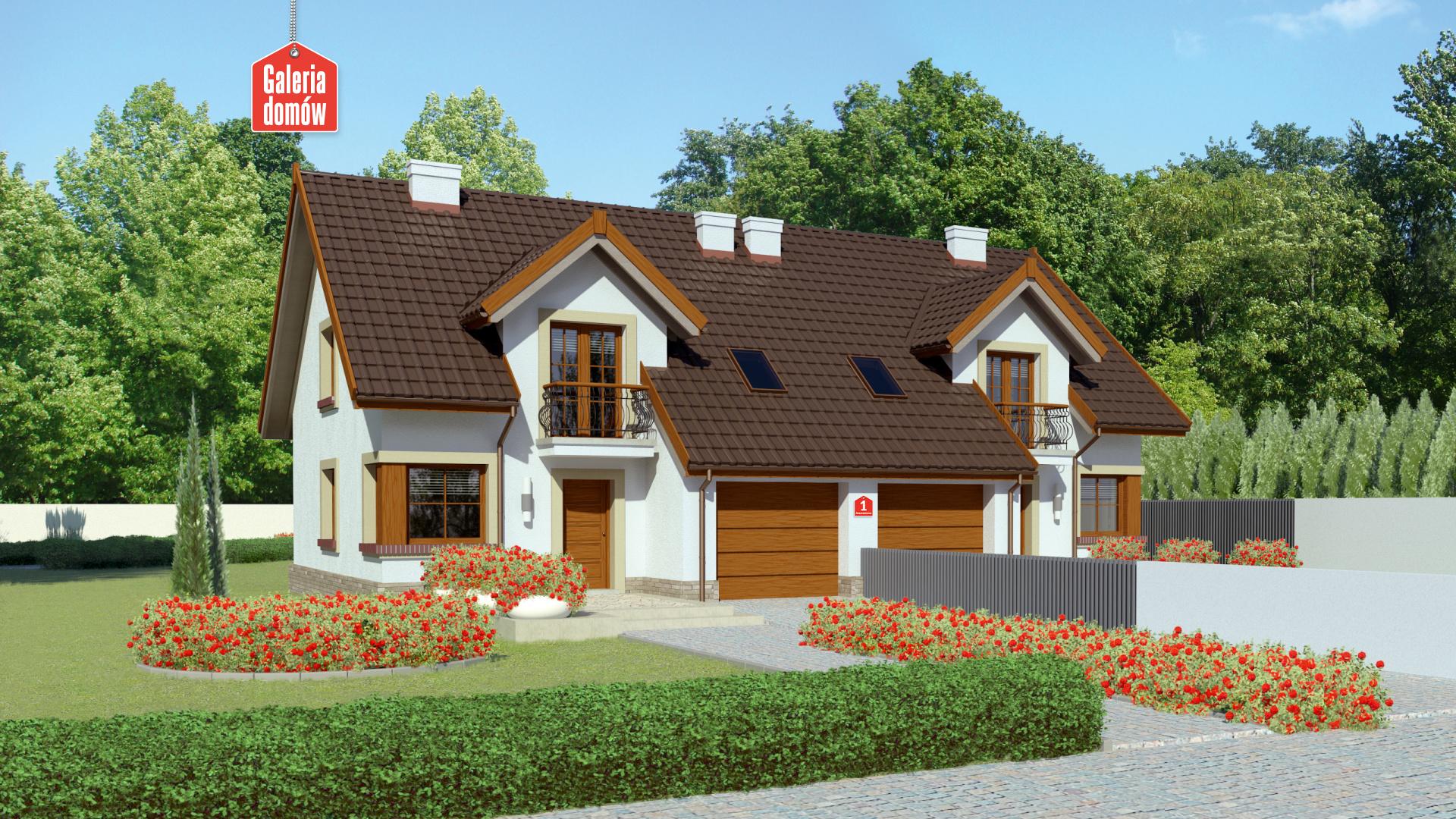 Dom przy Amarantowej - zdjęcie projektu i wizualizacja