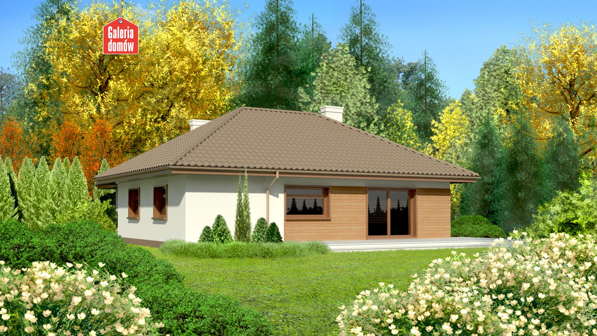 Dom przy Bajecznej 2 - widok od ogrodu