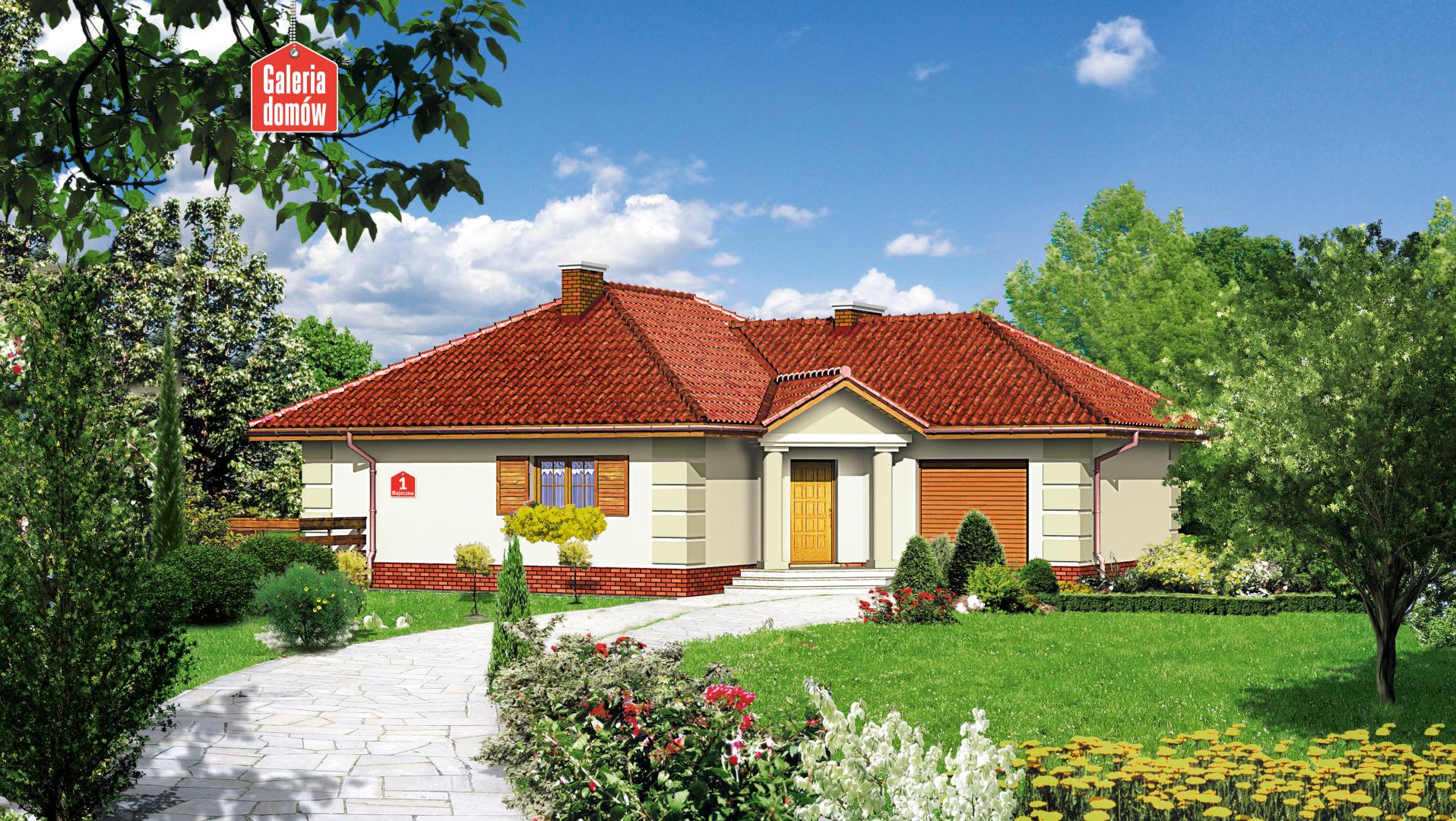 Dom przy Bajecznej - zdjęcie projektu i wizualizacja