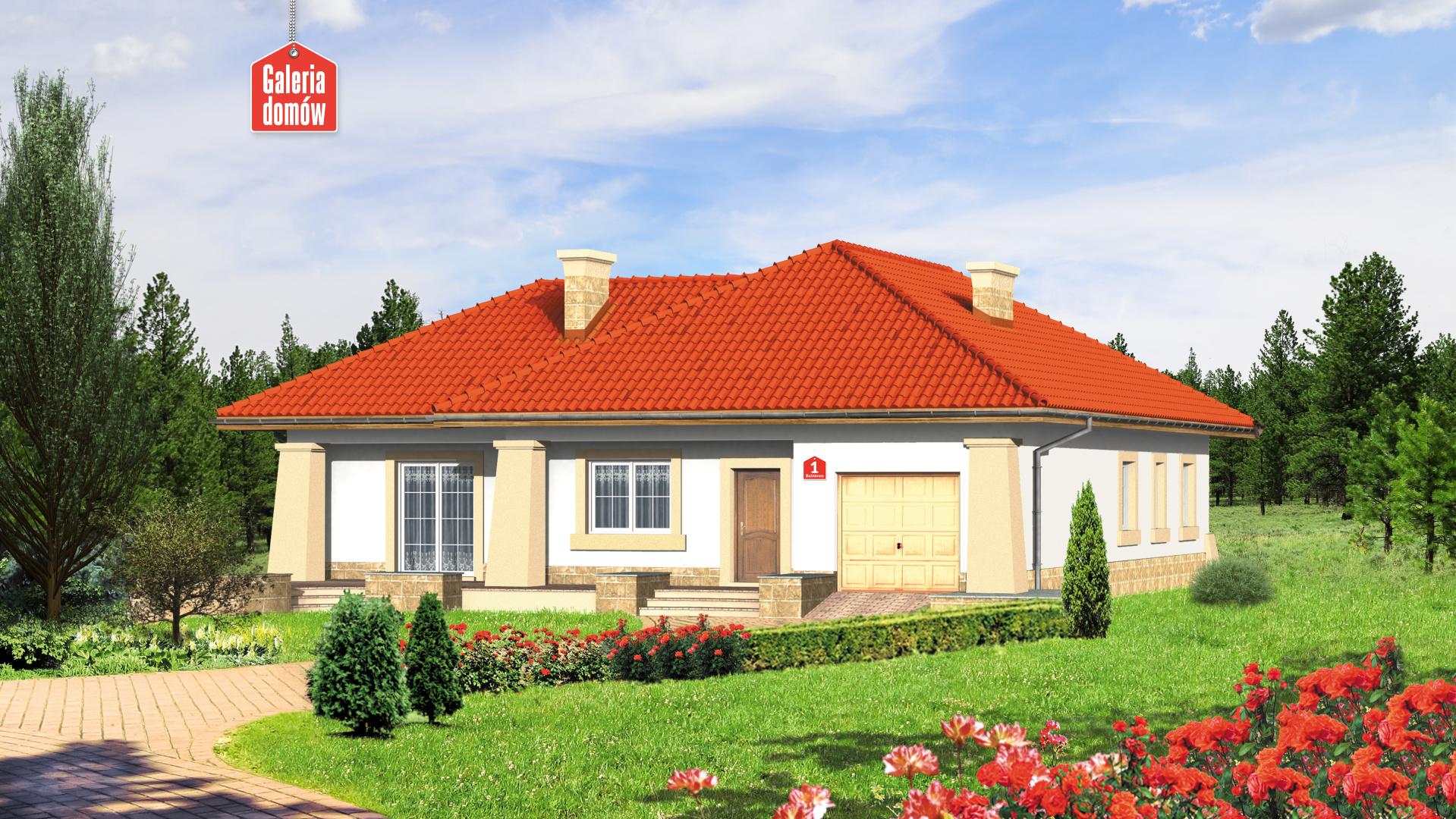 Dom przy Baśniowej - zdjęcie projektu i wizualizacja