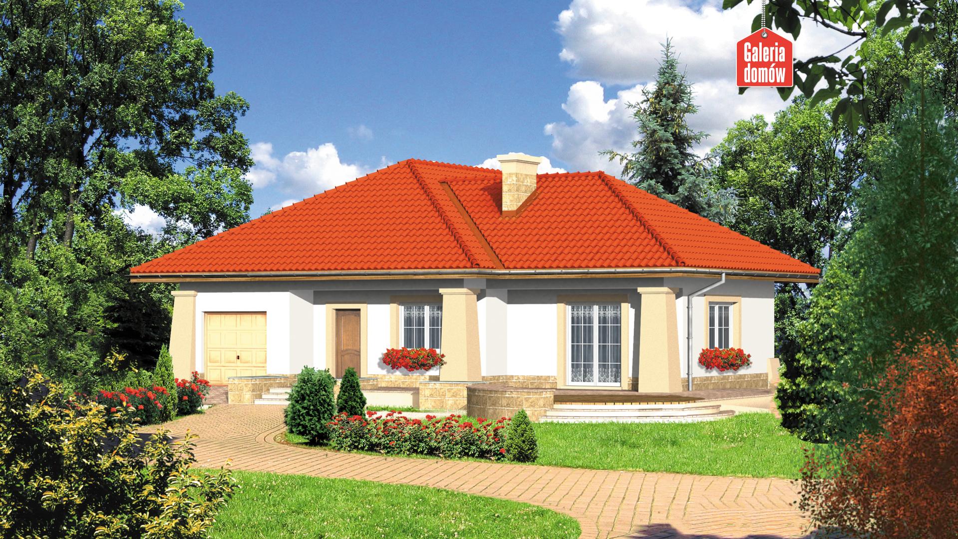Dom przy Baśniowej - widok od ogrodu