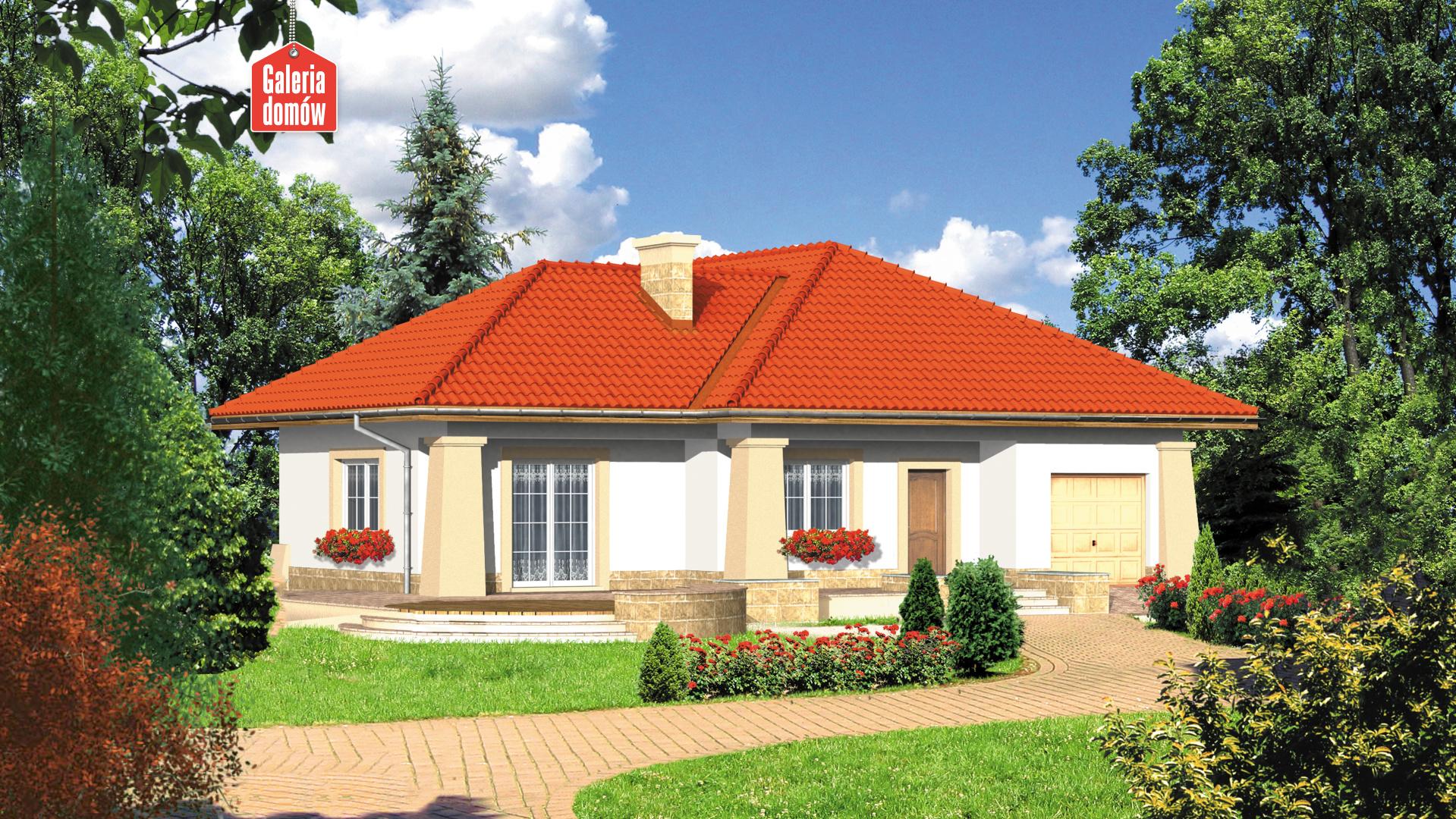 Dom przy Baśniowej - widok od strony ogrodu