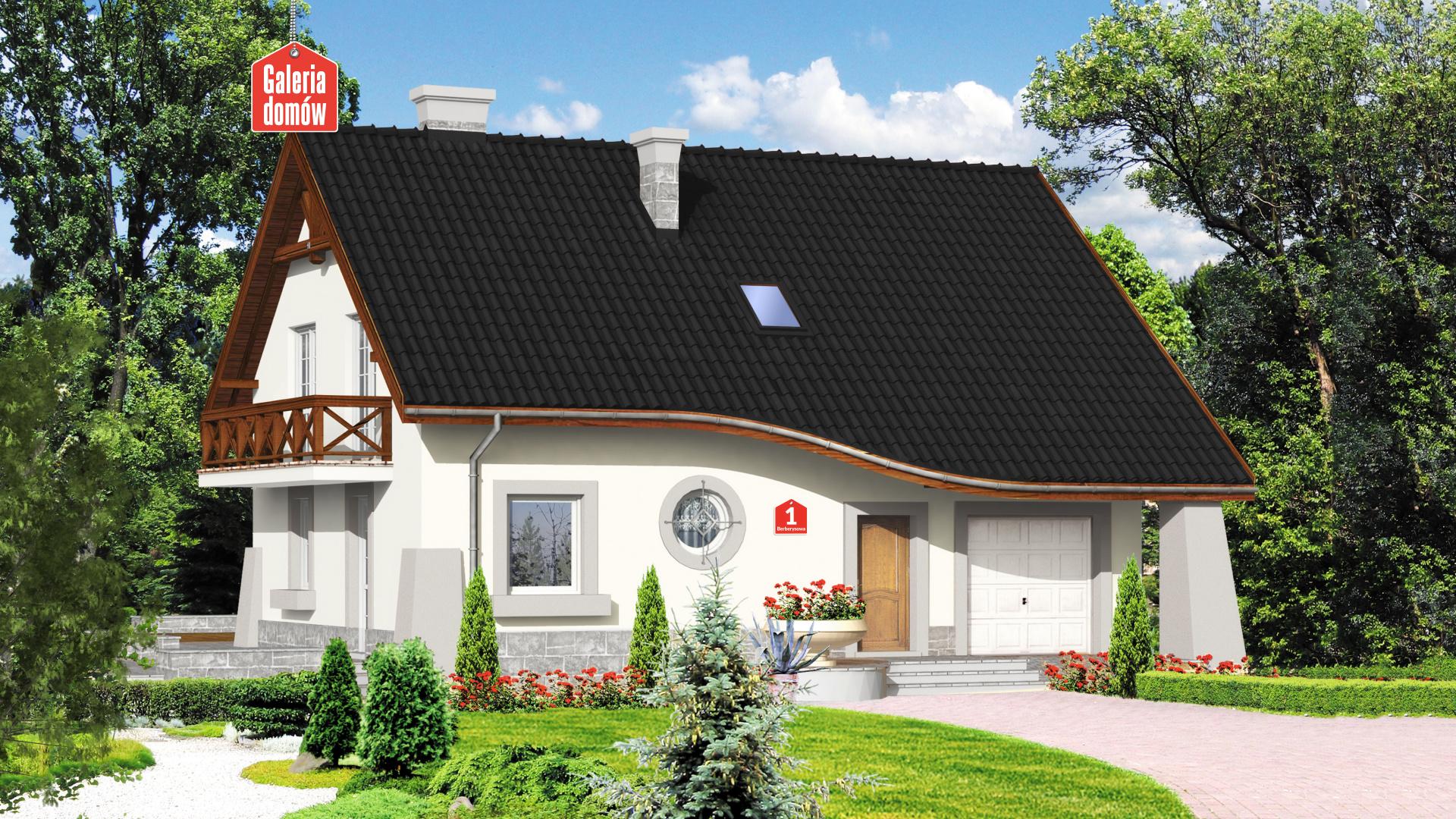 Dom przy Berberysowej - zdjęcie projektu i wizualizacja
