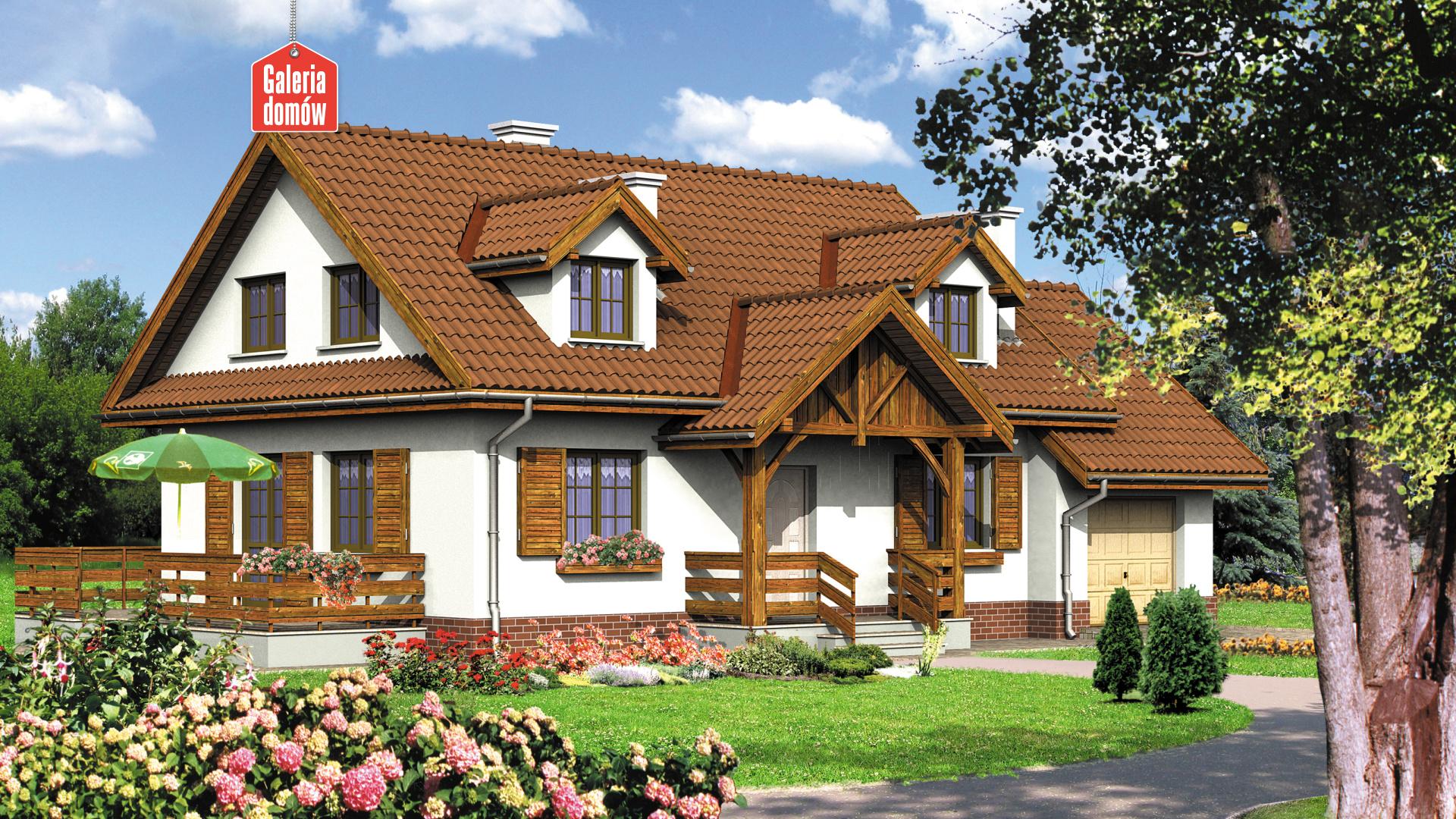 Dom przy Bocianiej - zdjęcie projektu i wizualizacja