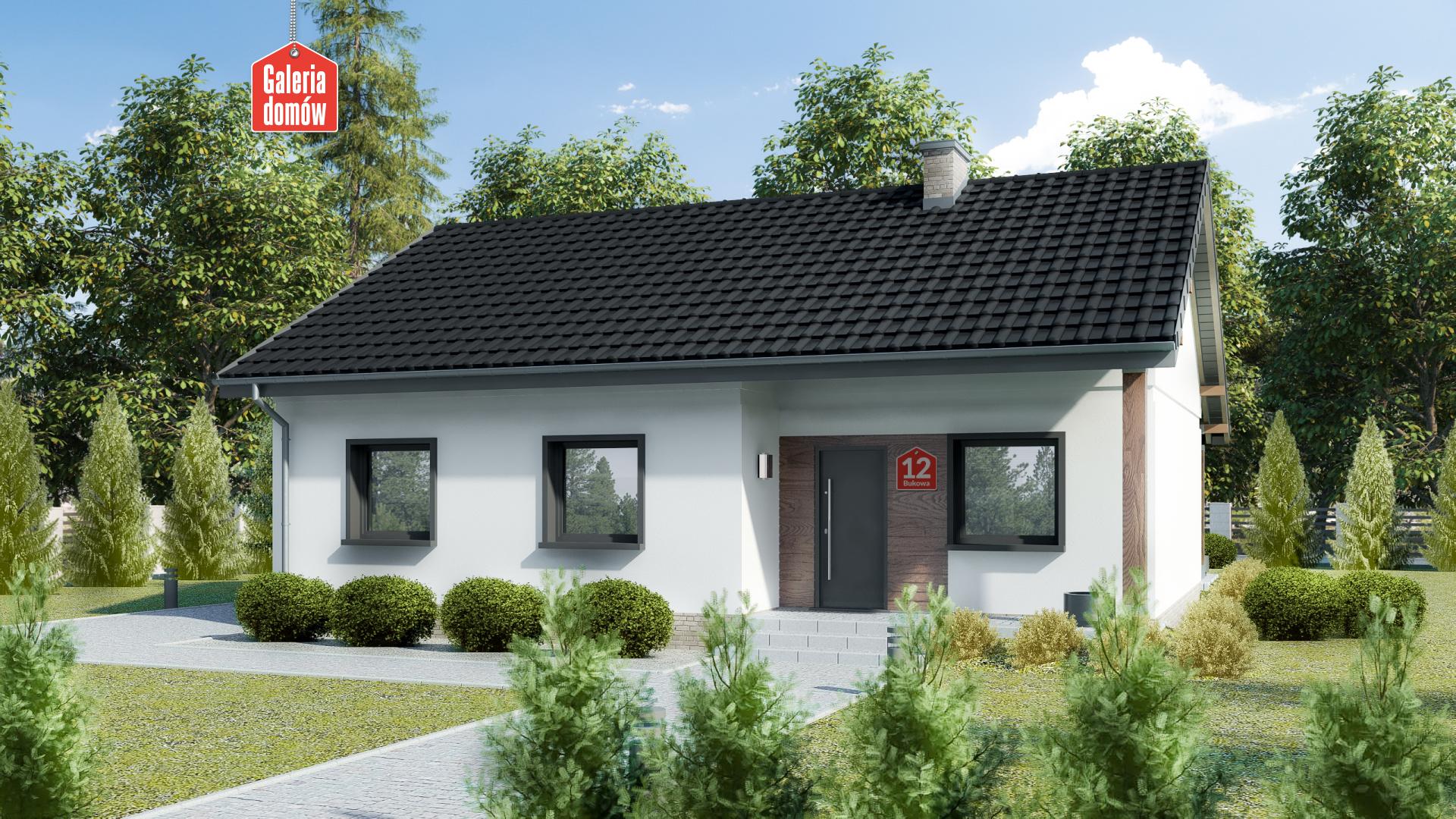 Dom przy Bukowej 12 - zdjęcie projektu i wizualizacja