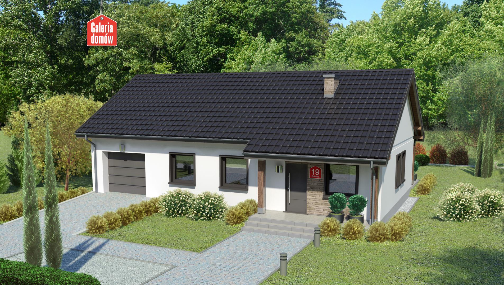 Dom przy Bukowej 19 - zdjęcie projektu i wizualizacja