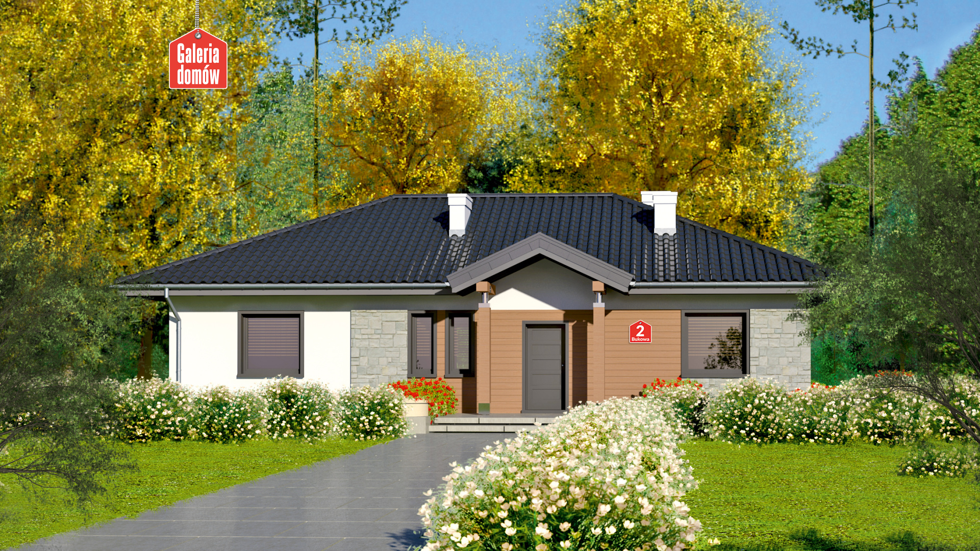 Dom przy Bukowej 2 - zdjęcie projektu i wizualizacja