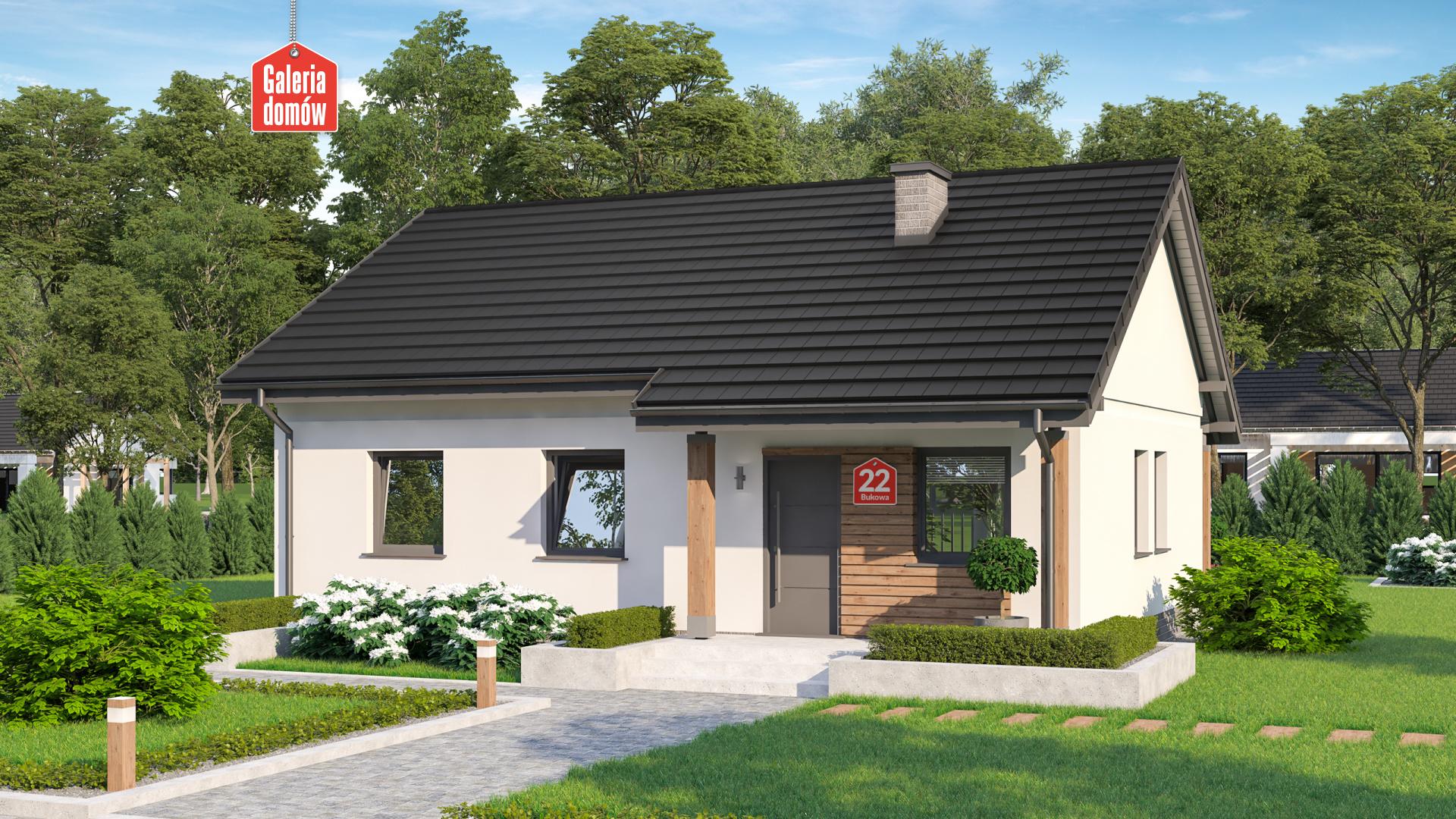 Zdjęcie projektu i wizualizacja: projekt domu Dom przy Bukowej 22