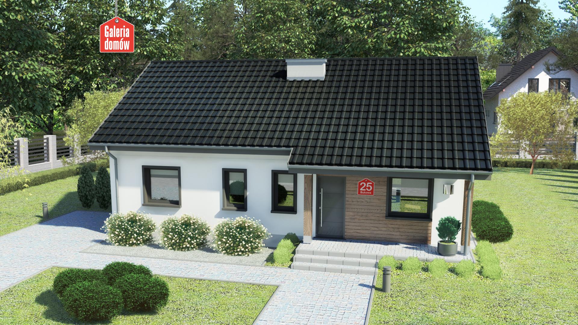 Dom przy Bukowej 25 - zdjęcie projektu i wizualizacja