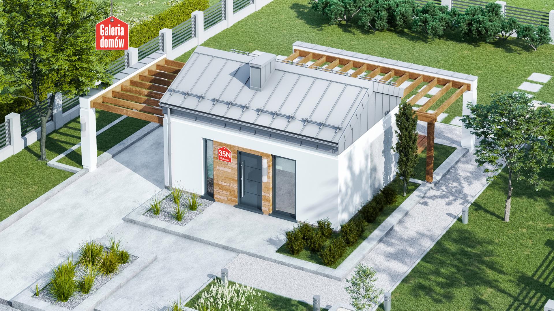 Zdjęcie projektu i wizualizacja: projekt domu Dom przy Bukowej 35 N