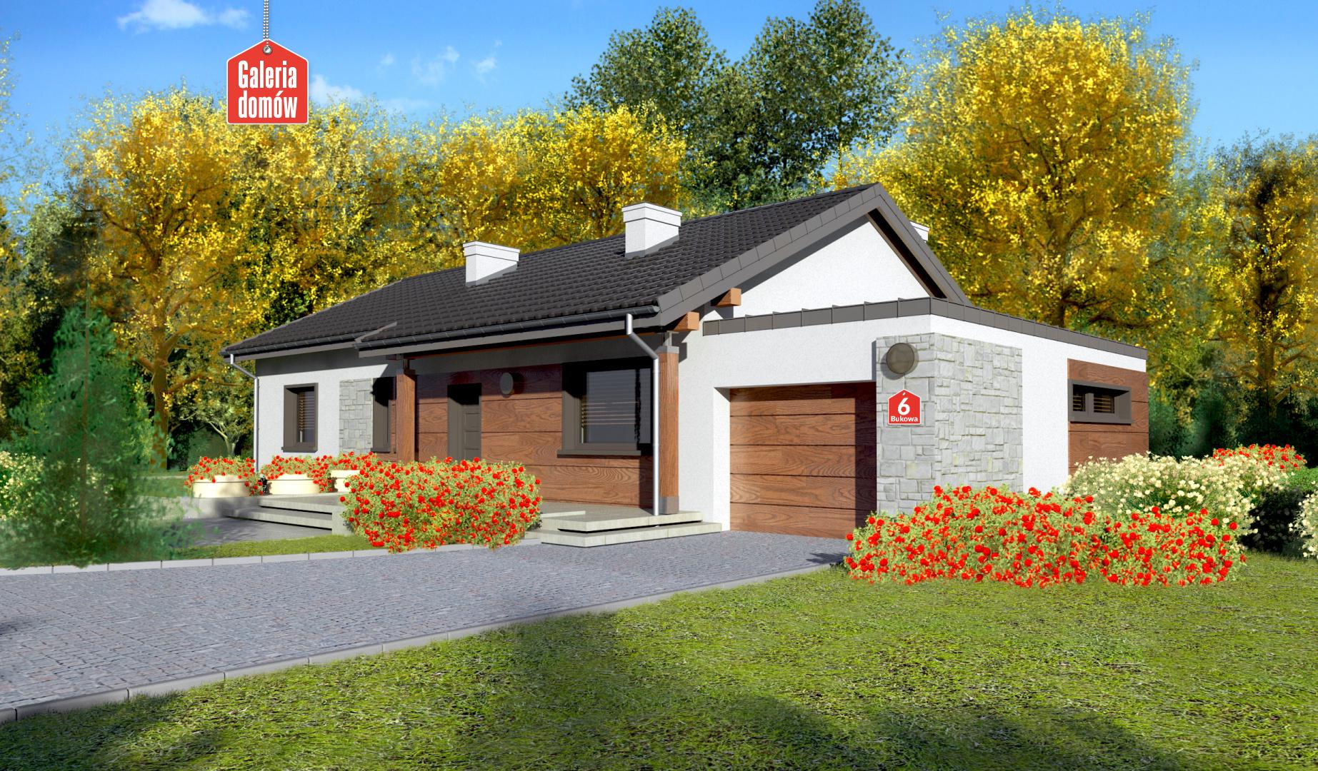 Dom przy Bukowej 6 - zdjęcie projektu i wizualizacja