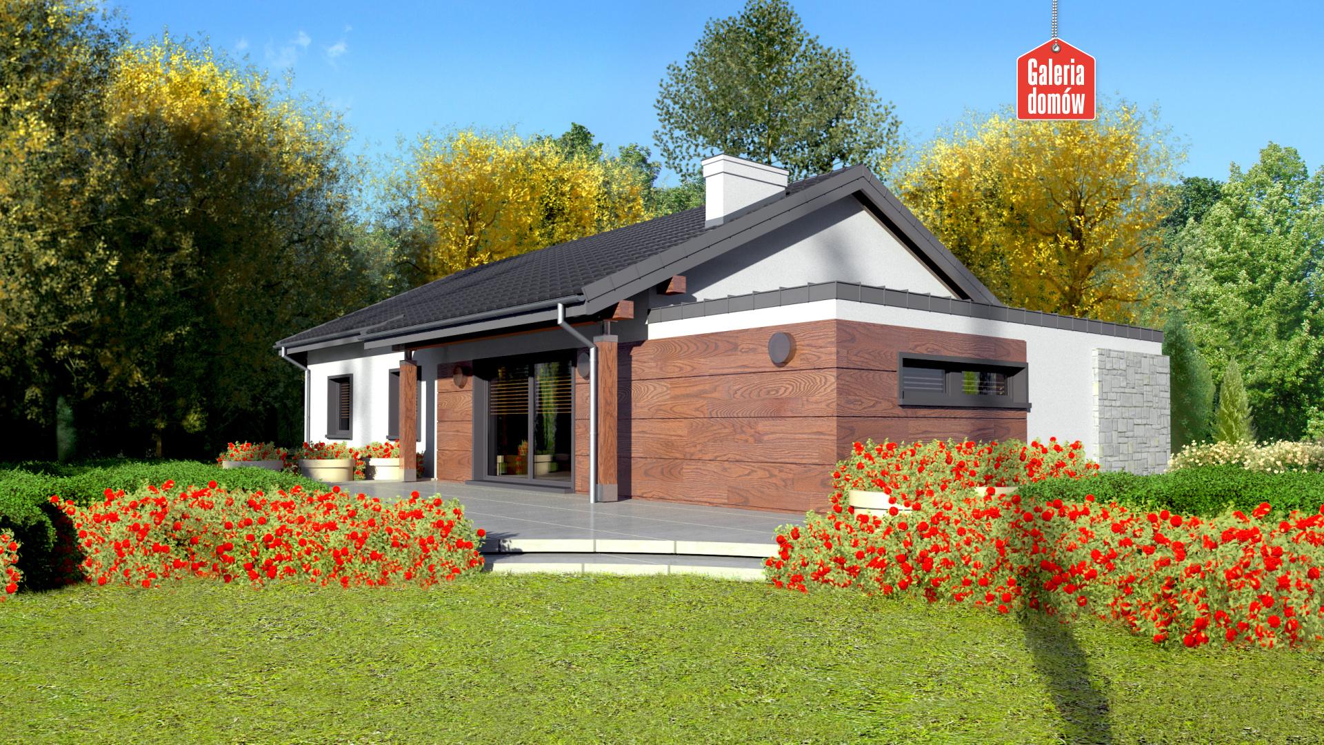 Dom przy Bukowej 6 - widok od ogrodu