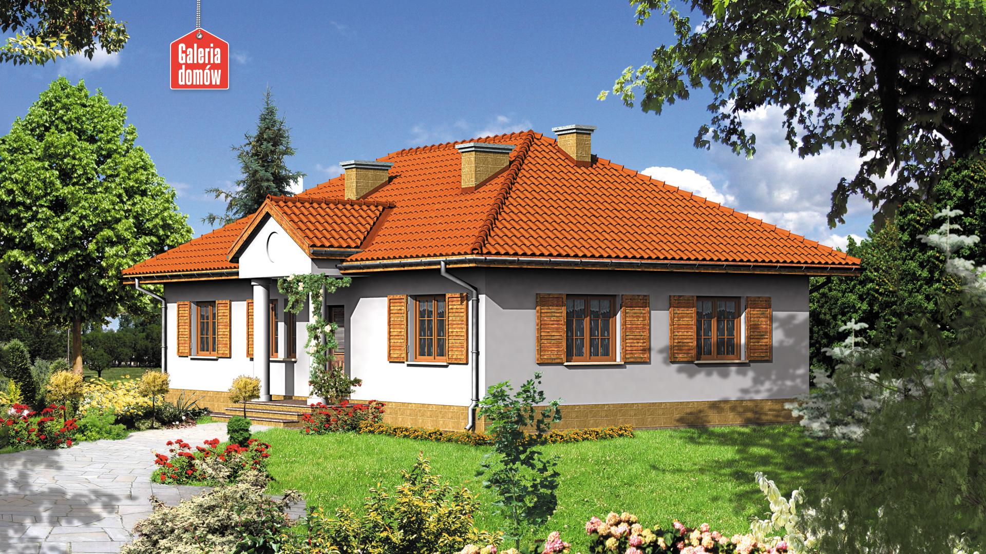 Dom przy Bukowej - widok od ogrodu