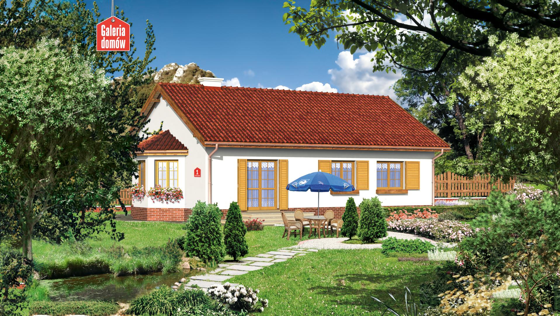 Dom przy Chabrowej - widok od strony ogrodu