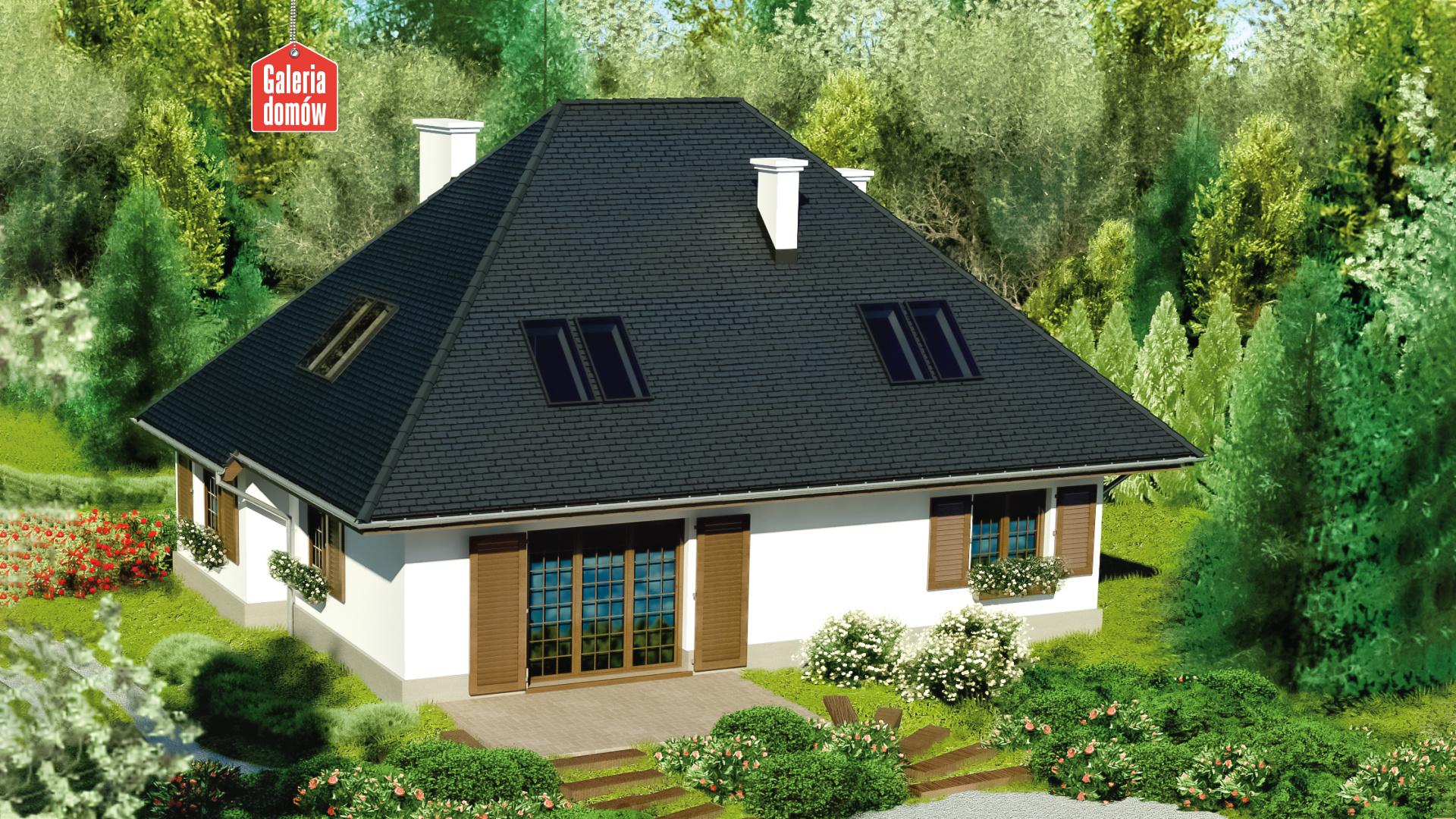 Dom przy Ciepłej - widok od ogrodu