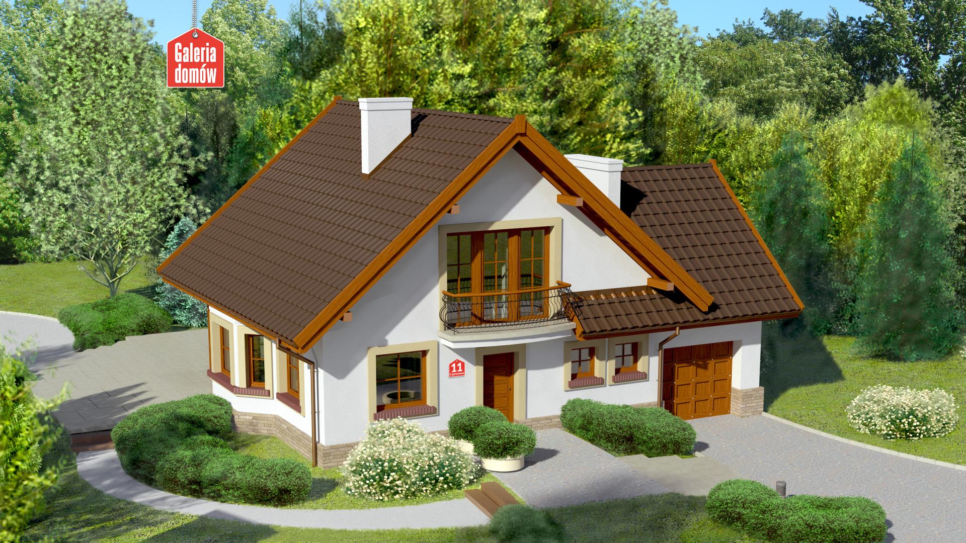 Dom przy Cyprysowej 11 - zdjęcie projektu i wizualizacja