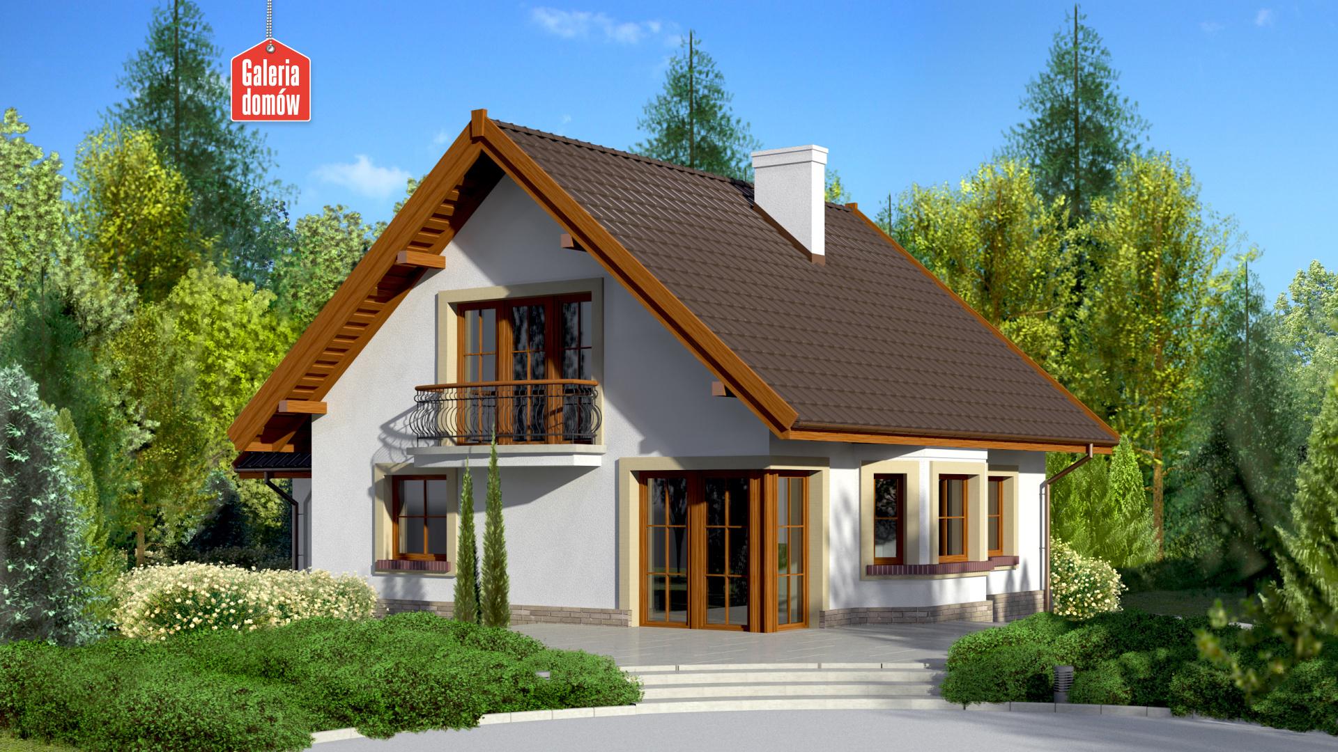Dom przy Cyprysowej 11 - widok od ogrodu