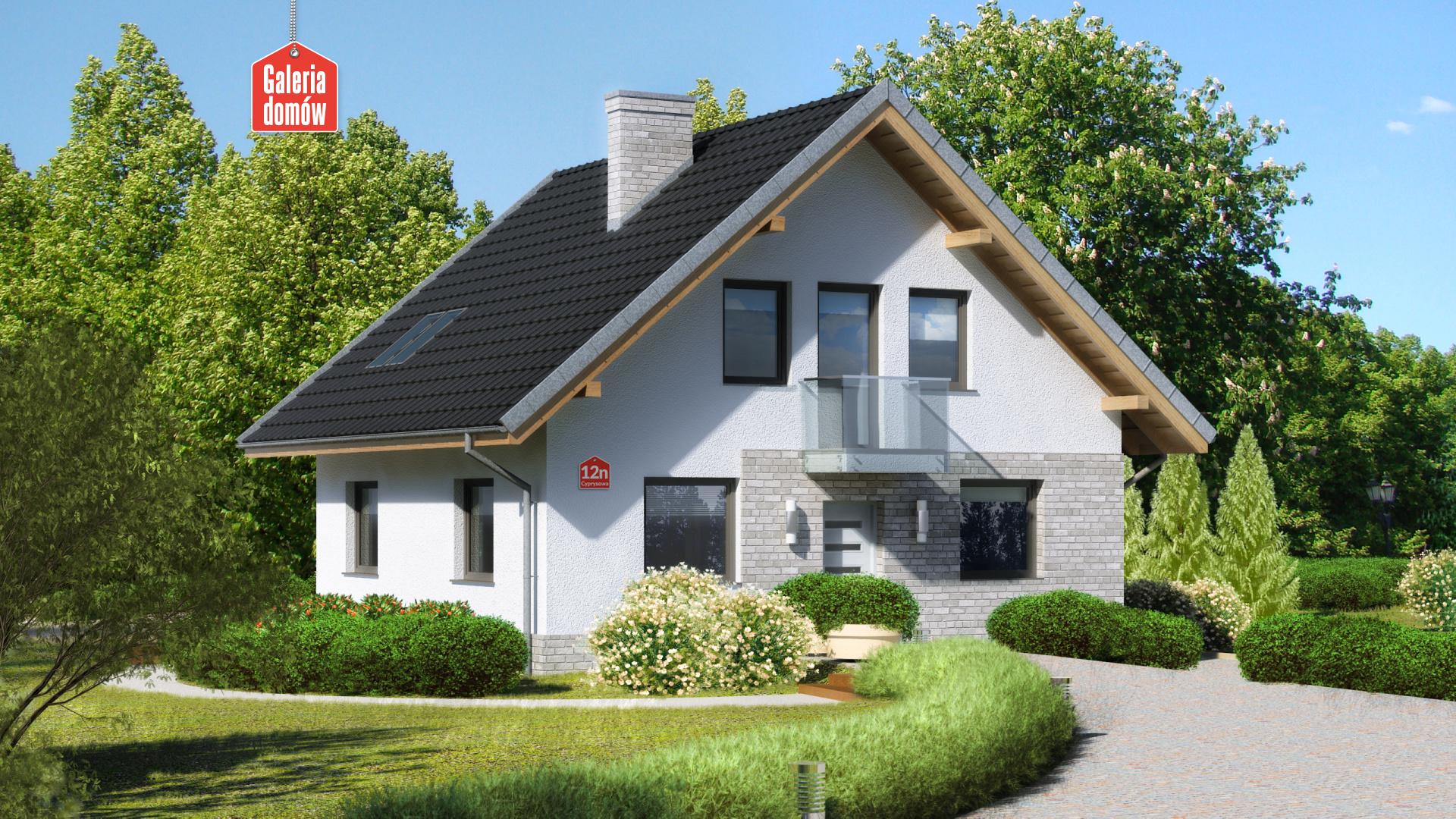 Zdjęcie projektu i wizualizacja: projekt domu Dom przy Cyprysowej 12 N