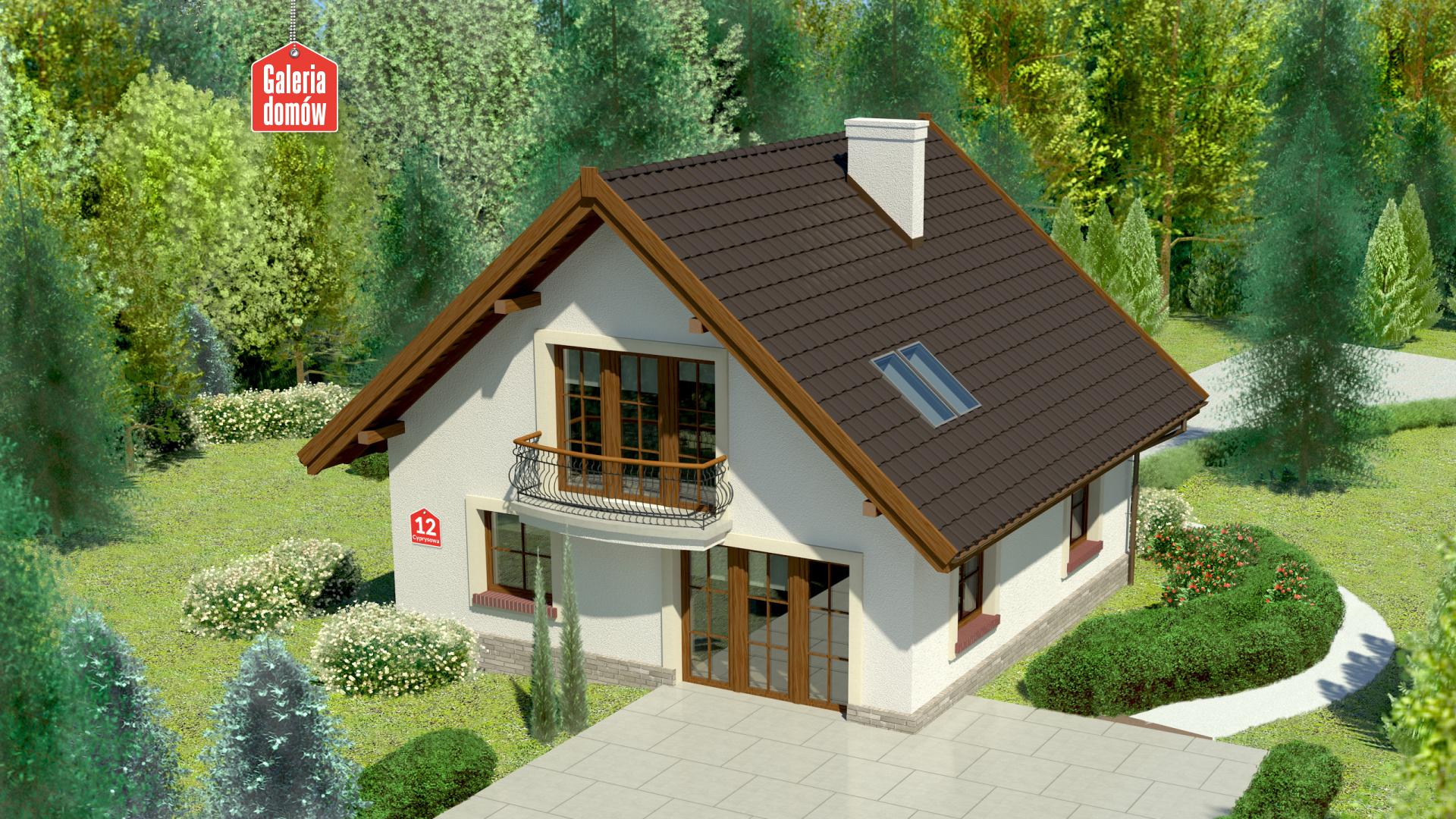 Dom przy Cyprysowej 12 - widok od strony ogrodu