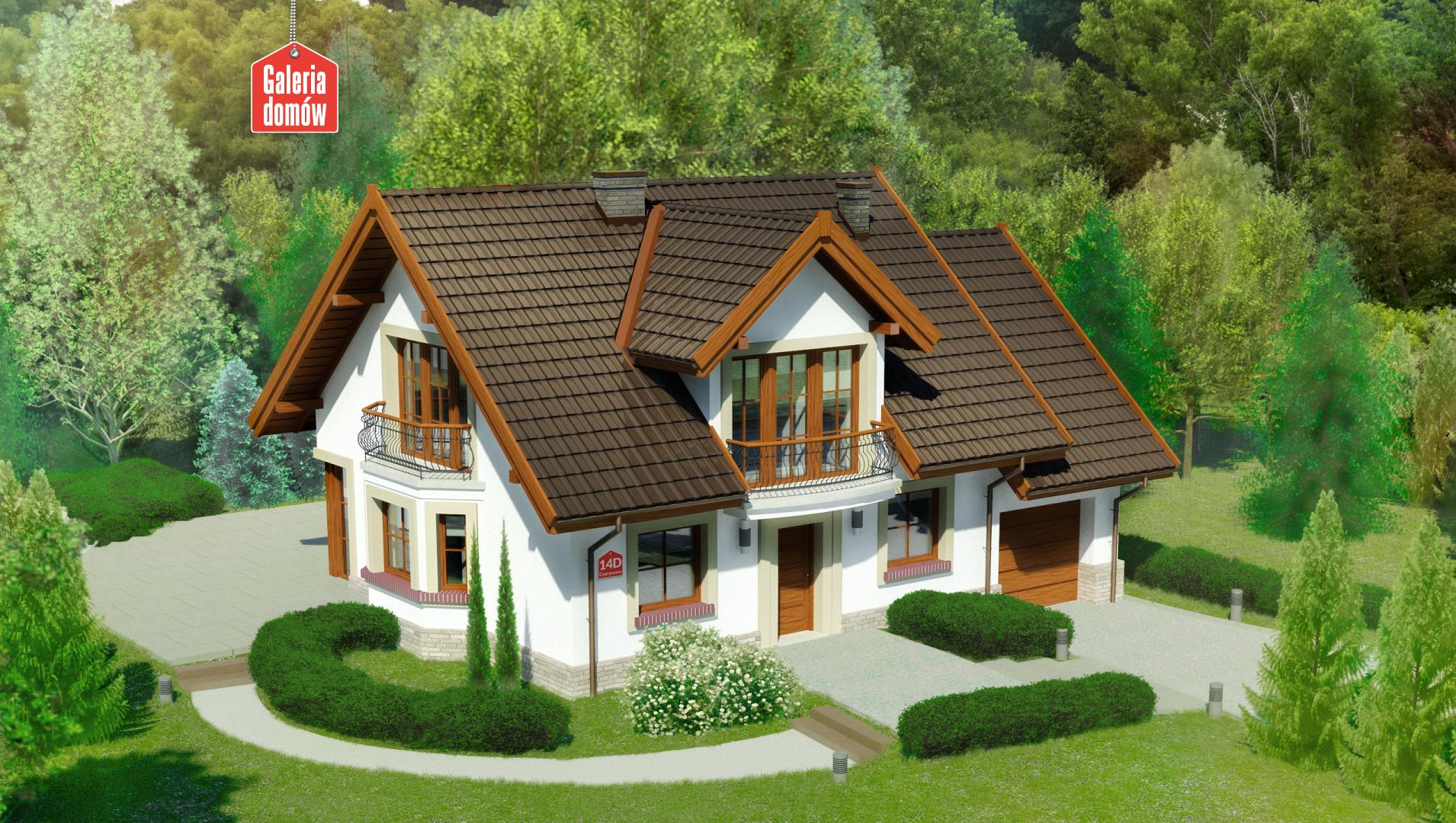Zdjęcie projektu i wizualizacja: projekt domu Dom przy Cyprysowej 14 D