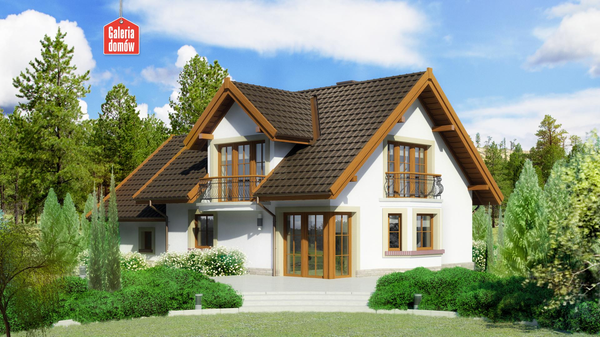 Dom przy Cyprysowej 15 D - widok od ogrodu