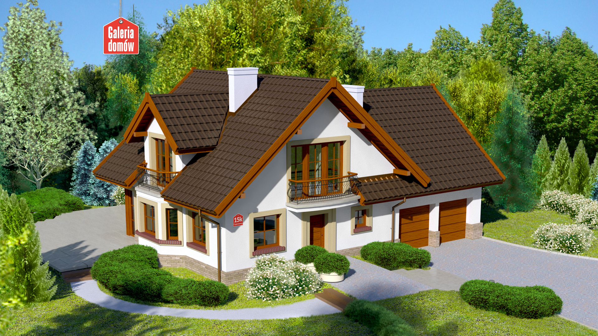 Dom przy Cyprysowej 15 K - zdjęcie projektu i wizualizacja