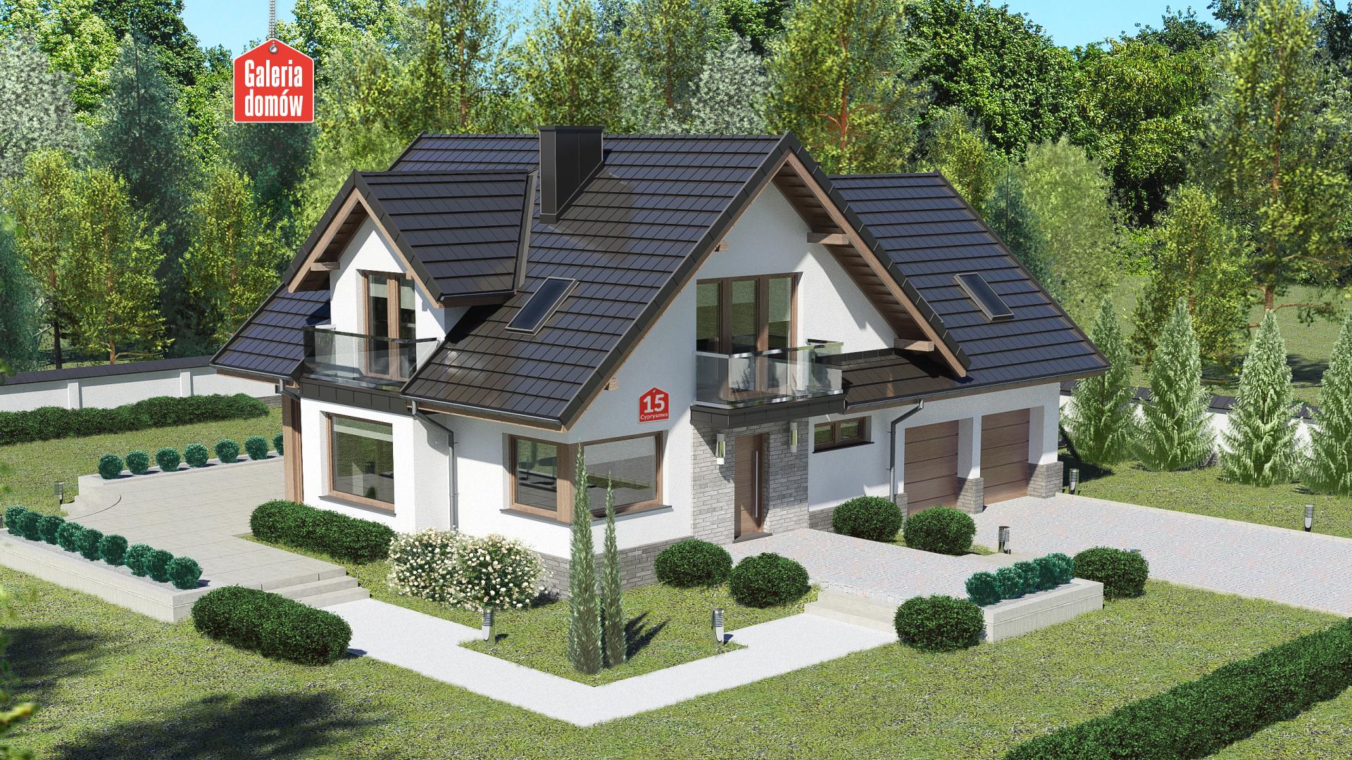 Dom przy Cyprysowej 15 K6 - zdjęcie projektu i wizualizacja