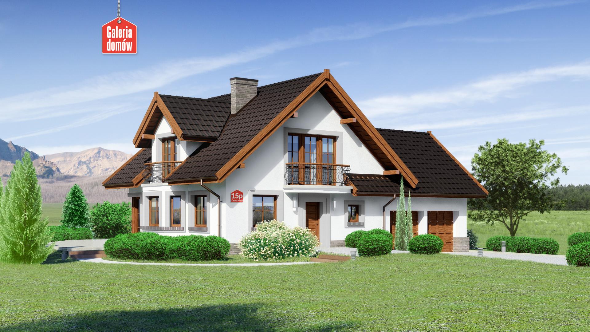 Dom przy Cyprysowej 15 P - zdjęcie projektu i wizualizacja