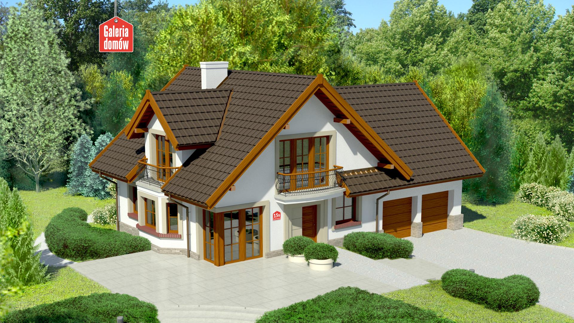Zdjęcie projektu i wizualizacja: projekt domu Dom przy Cyprysowej 15 S1