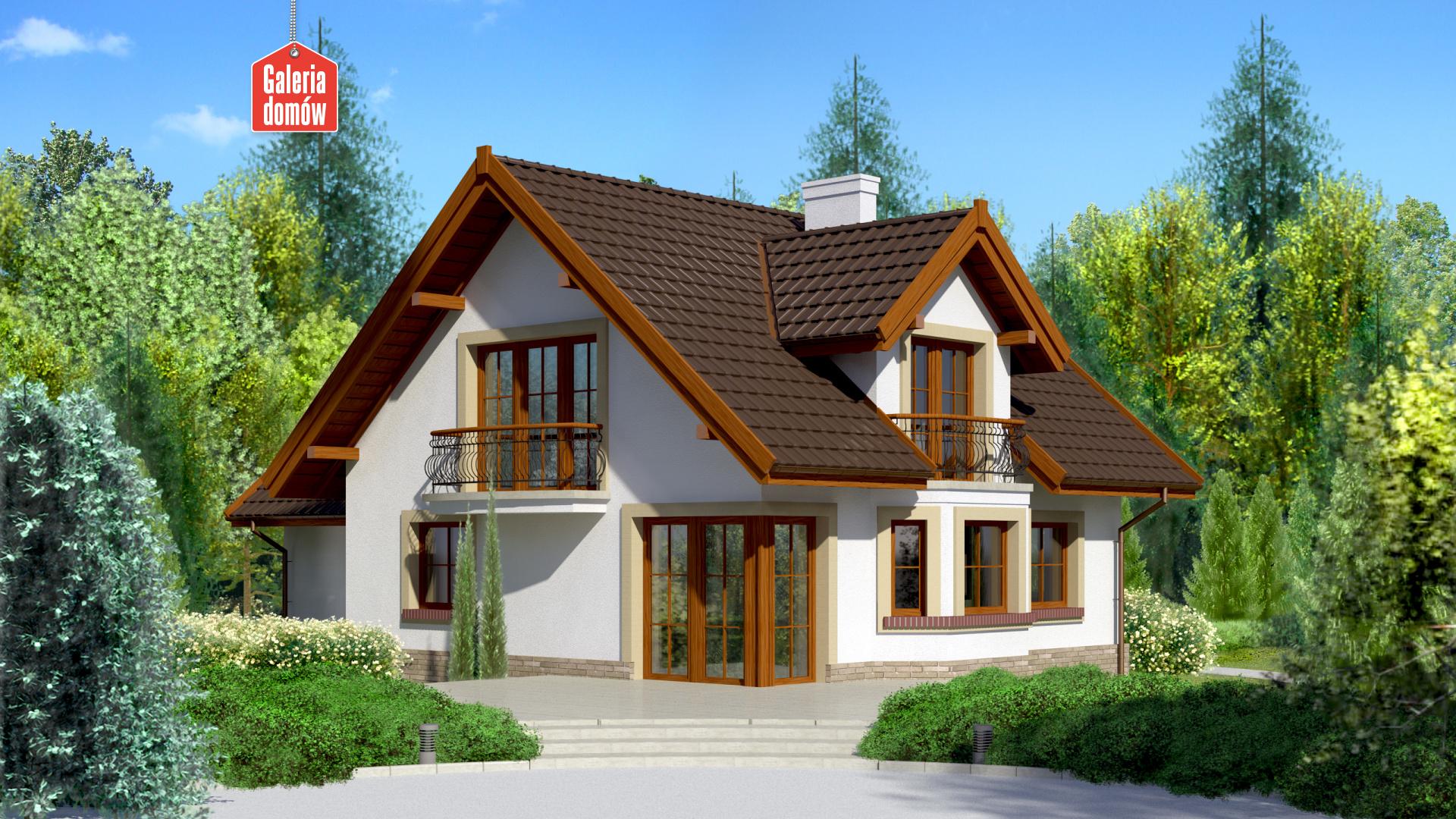 Dom przy Cyprysowej 15 - widok od ogrodu