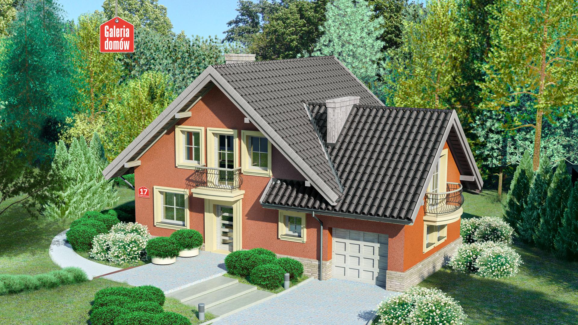 Dom przy Cyprysowej 17 - zdjęcie projektu i wizualizacja