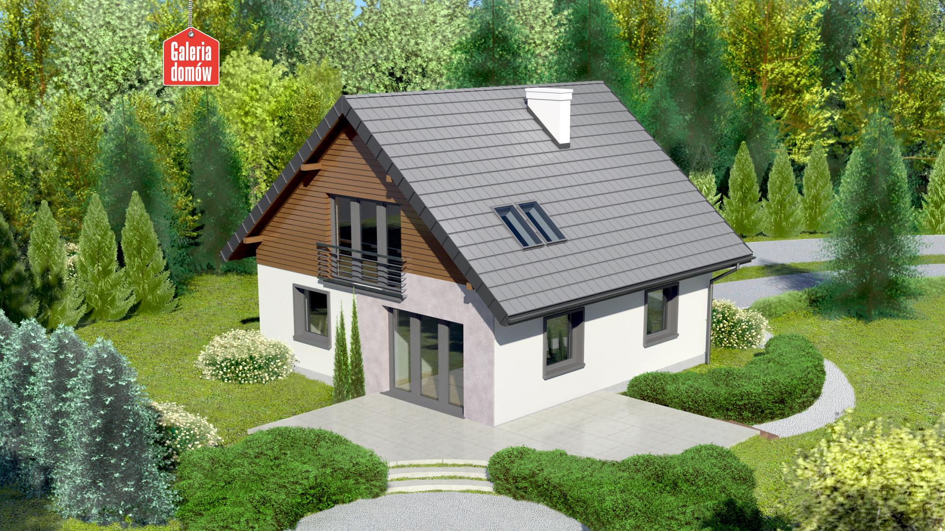 Dom przy Cyprysowej 2 bis - widok od ogrodu
