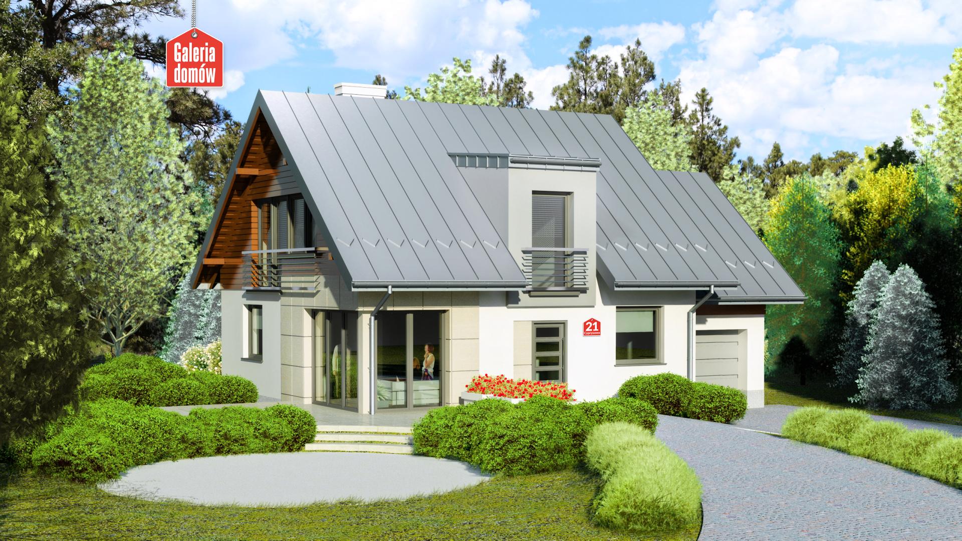 Dom przy Cyprysowej 21 - zdjęcie projektu i wizualizacja
