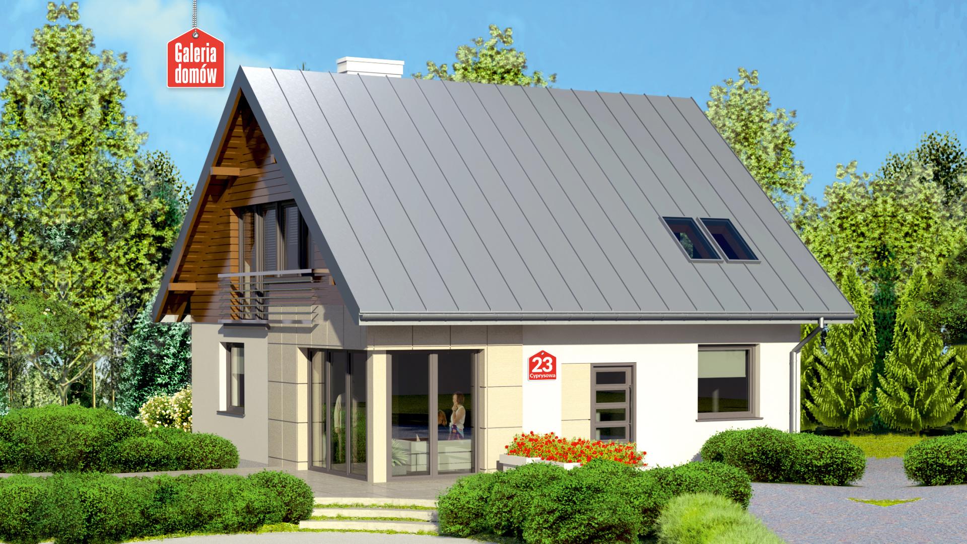 Zdjęcie projektu i wizualizacja: projekt domu Dom przy Cyprysowej 23