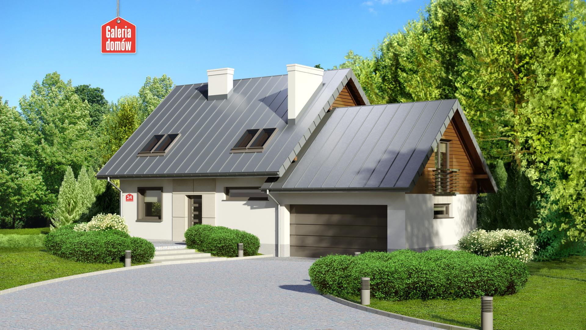 Zdjęcie projektu i wizualizacja: projekt domu Dom przy Cyprysowej 24