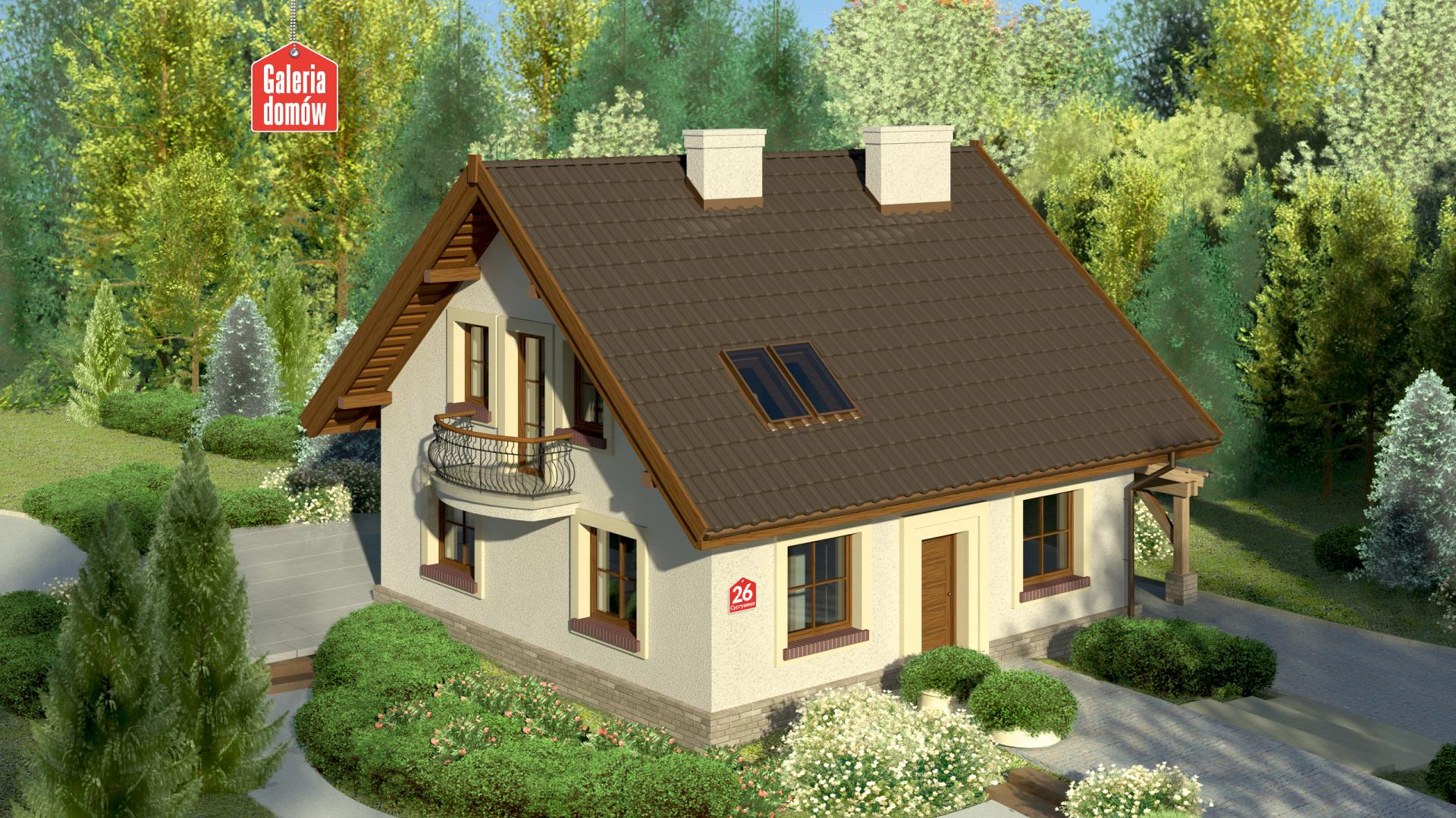 Zdjęcie projektu i wizualizacja: projekt domu Dom przy Cyprysowej 26