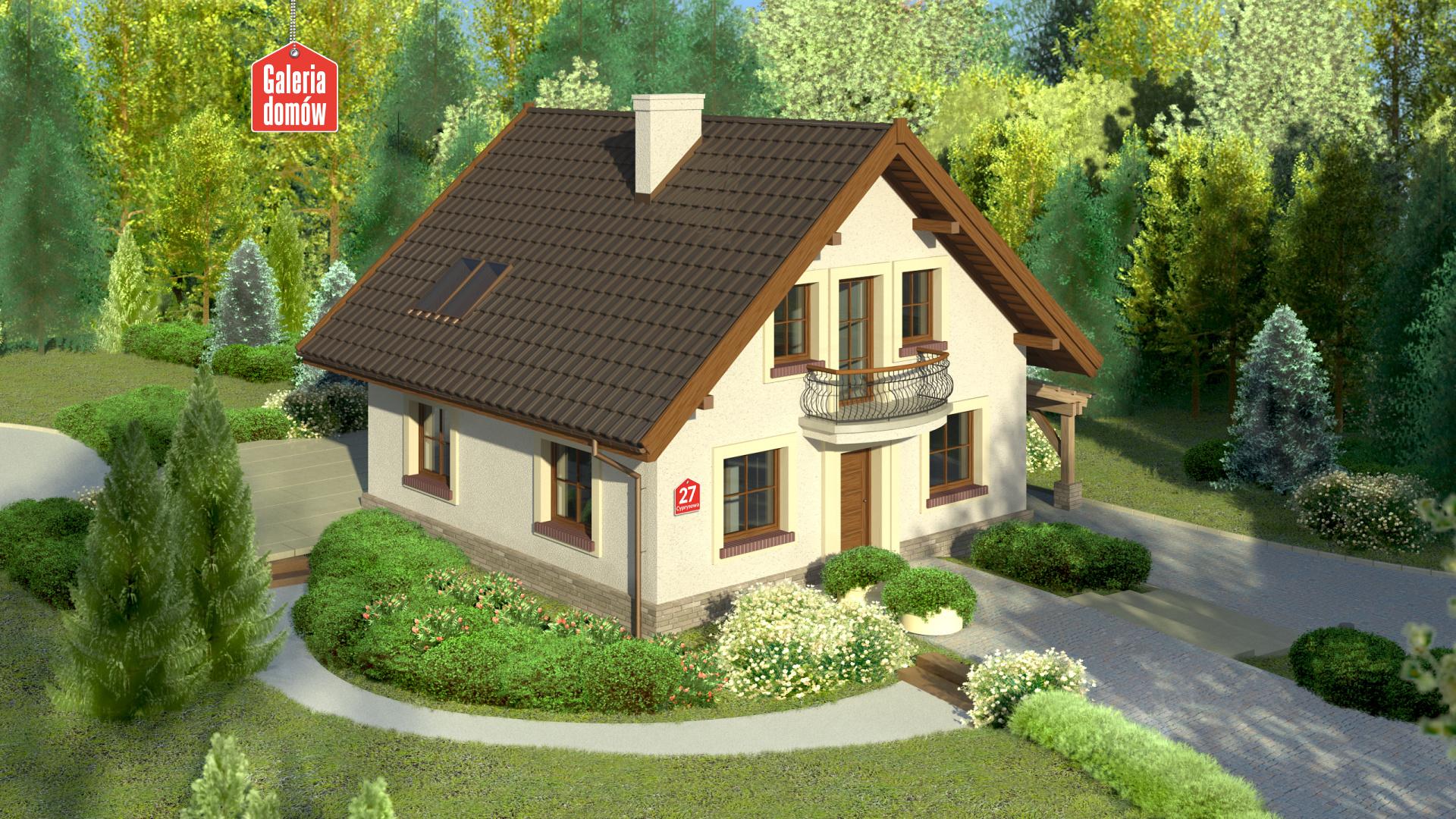 Dom przy Cyprysowej 27 - zdjęcie projektu i wizualizacja
