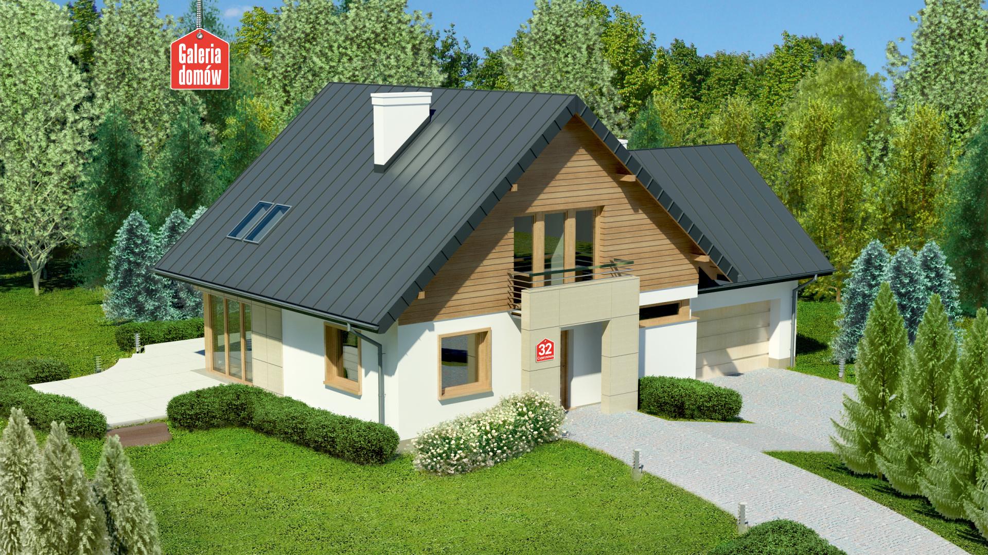 Dom przy Cyprysowej 32 - zdjęcie projektu i wizualizacja