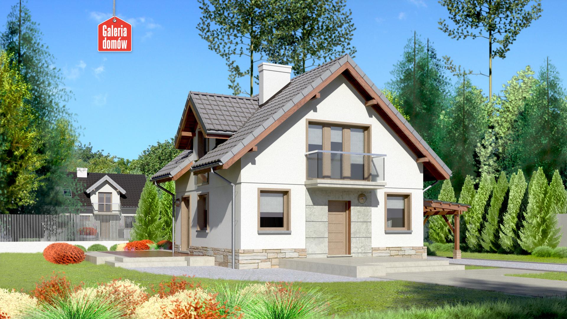 Dom przy Cyprysowej 35 - zdjęcie projektu i wizualizacja