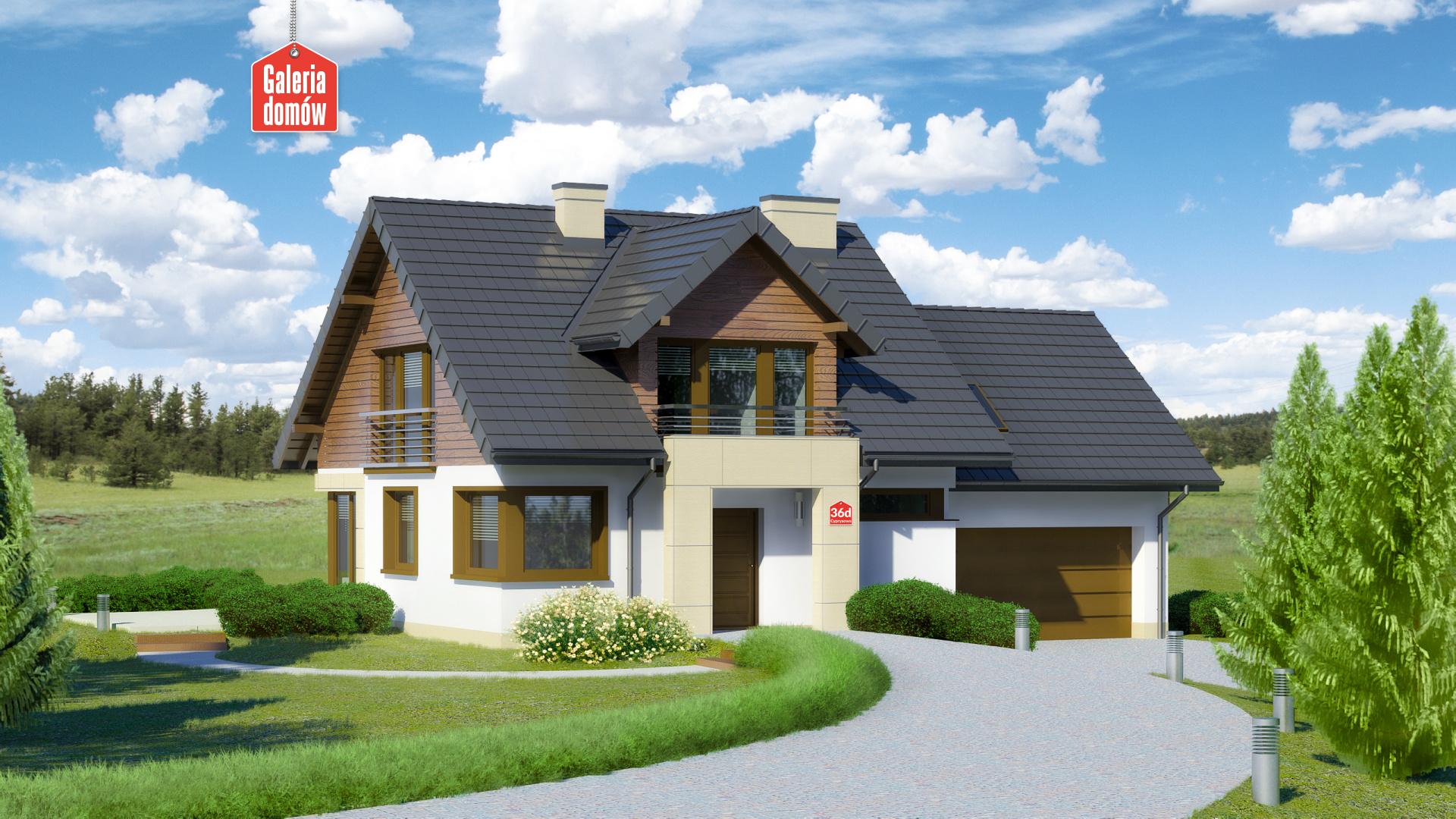 Dom przy Cyprysowej 36 D - zdjęcie projektu i wizualizacja