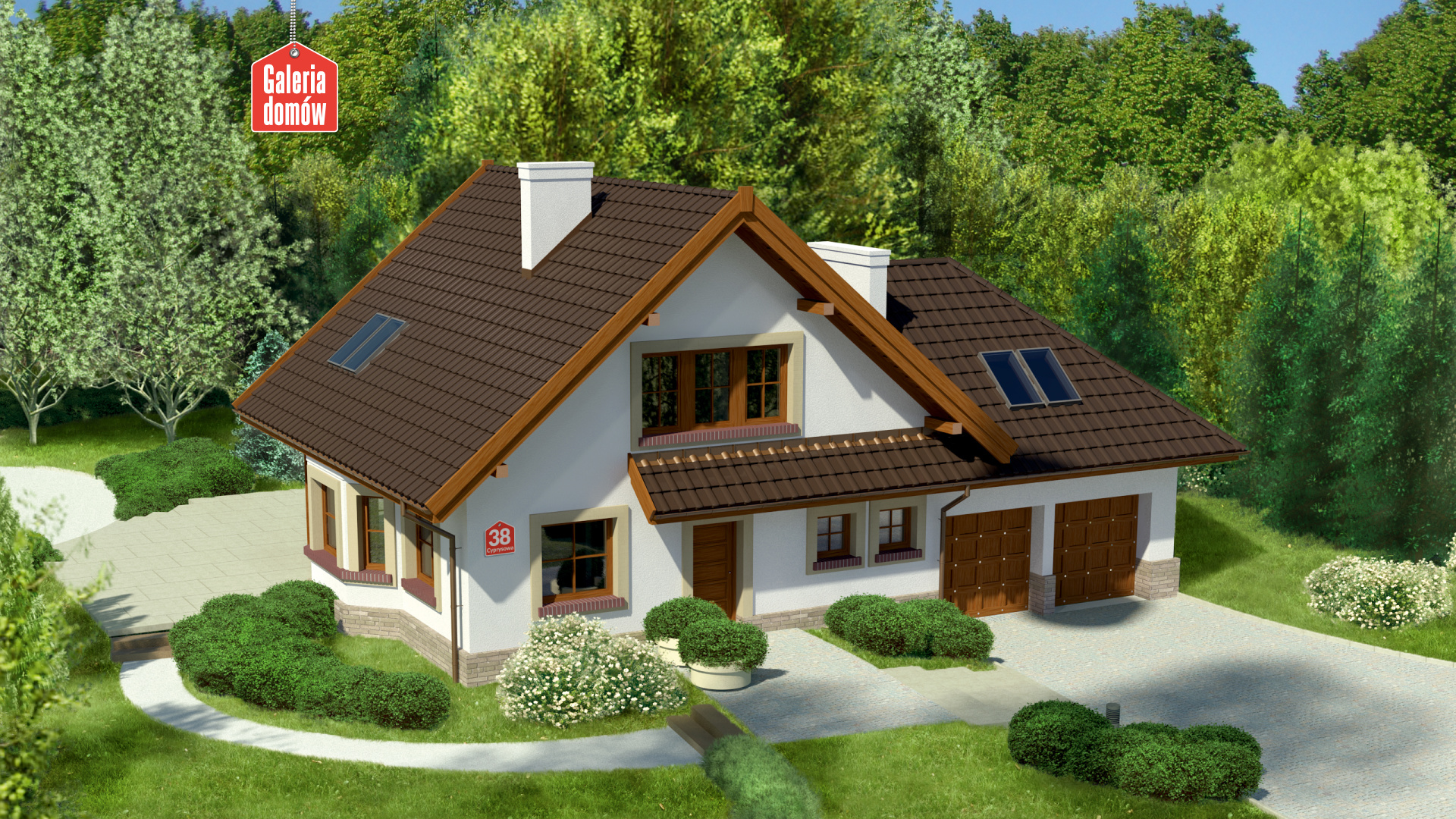 Dom przy Cyprysowej 38 - zdjęcie projektu i wizualizacja