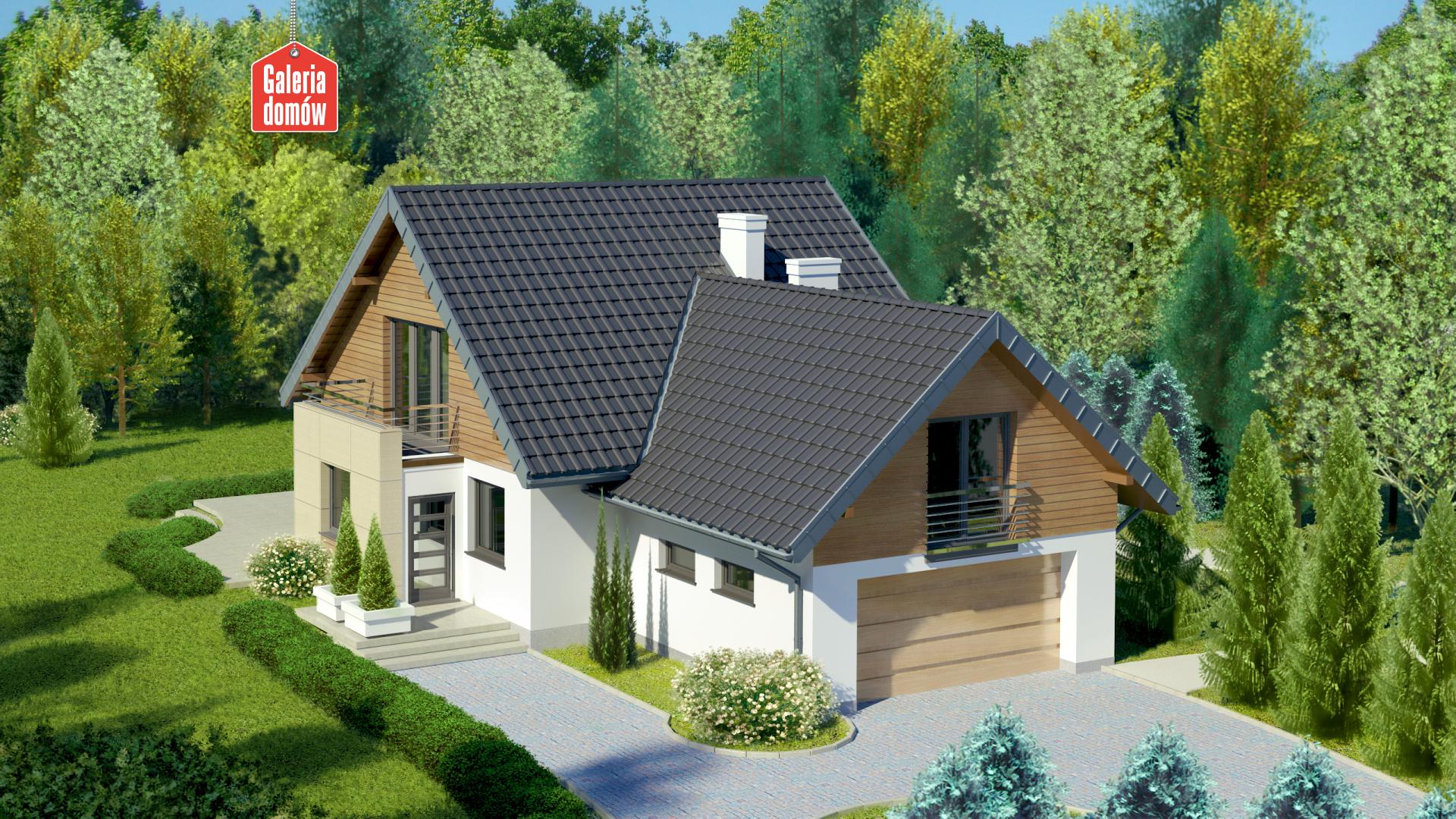 Zdjęcie projektu i wizualizacja: projekt domu Dom przy Cyprysowej 41