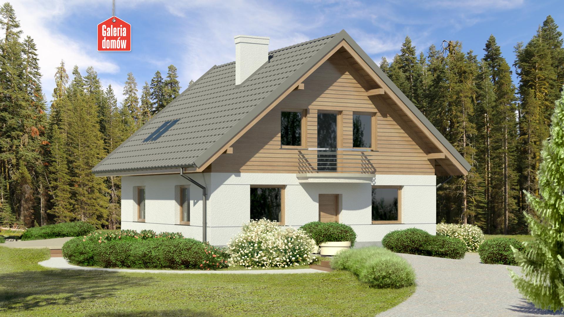 Dom przy Cyprysowej 45 - zdjęcie projektu i wizualizacja