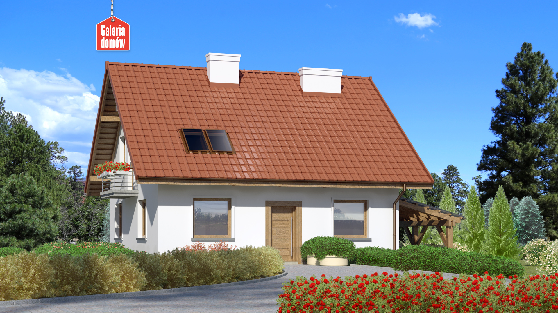 Dom przy Cyprysowej 49 - zdjęcie projektu i wizualizacja