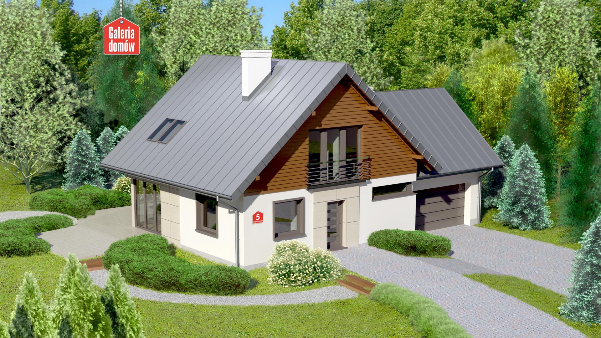 Dom przy Cyprysowej 5 - zdjęcie projektu i wizualizacja