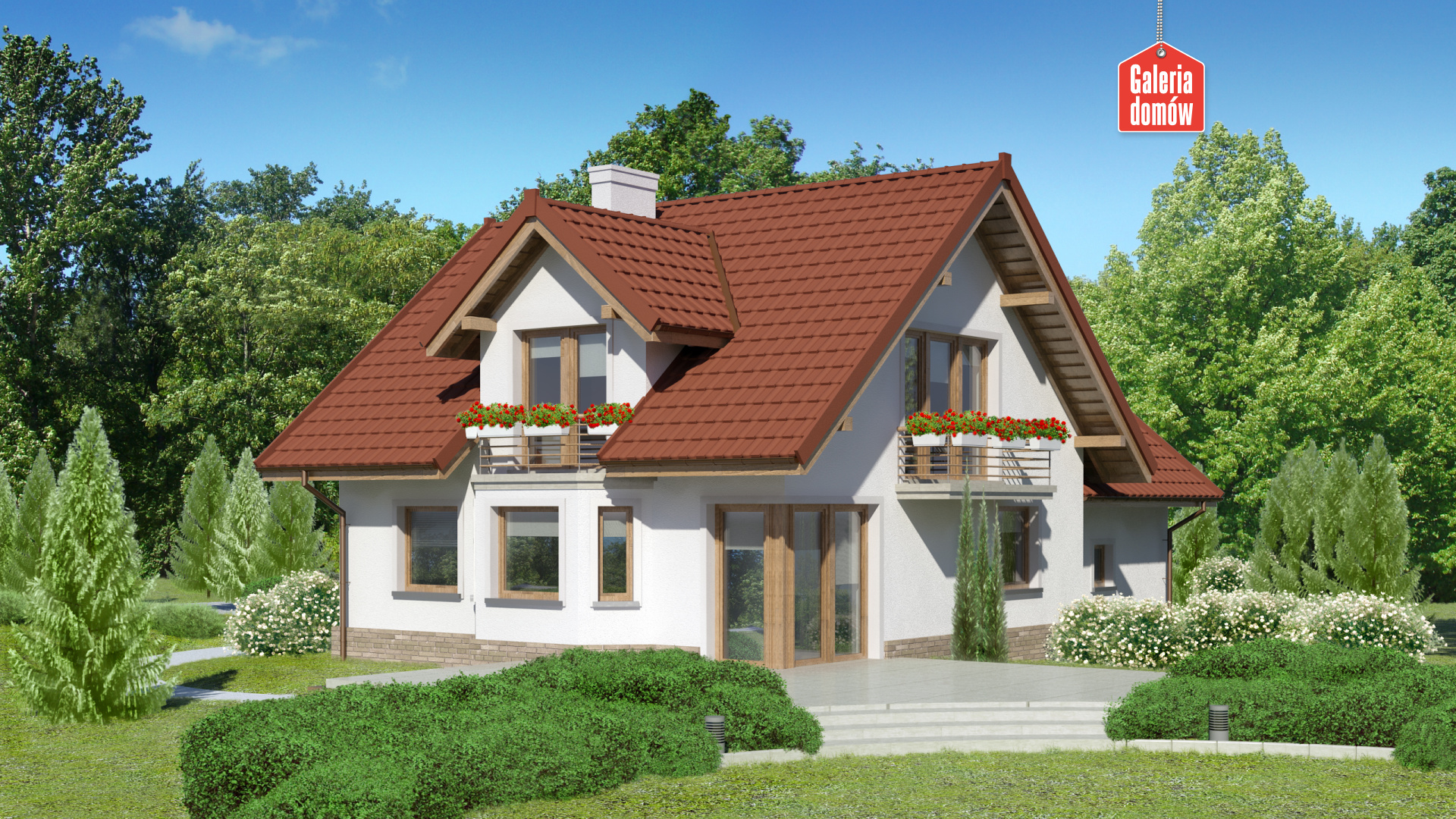 Dom przy Cyprysowej 51 - widok od ogrodu