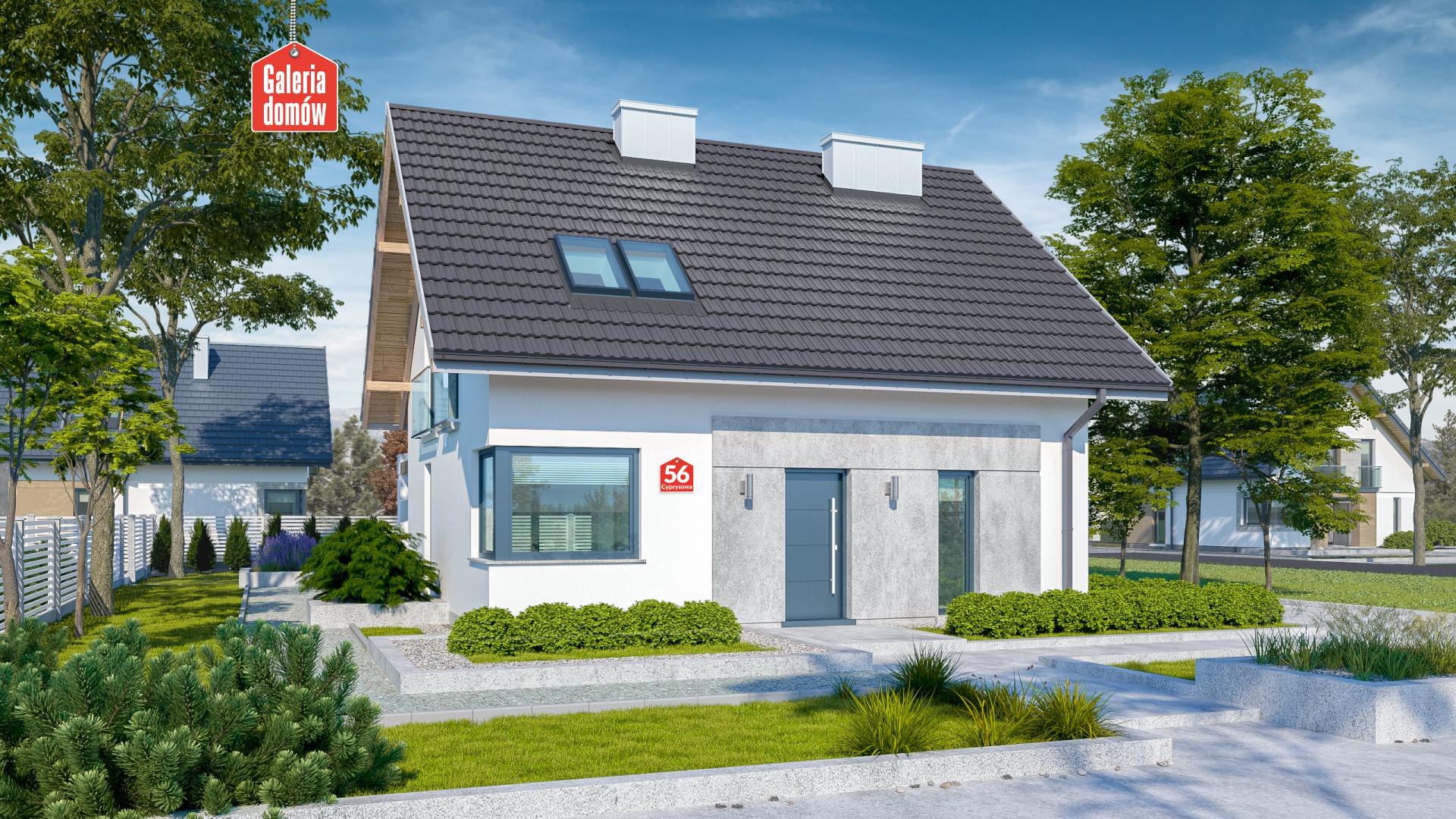 Dom przy Cyprysowej 56 - zdjęcie projektu i wizualizacja