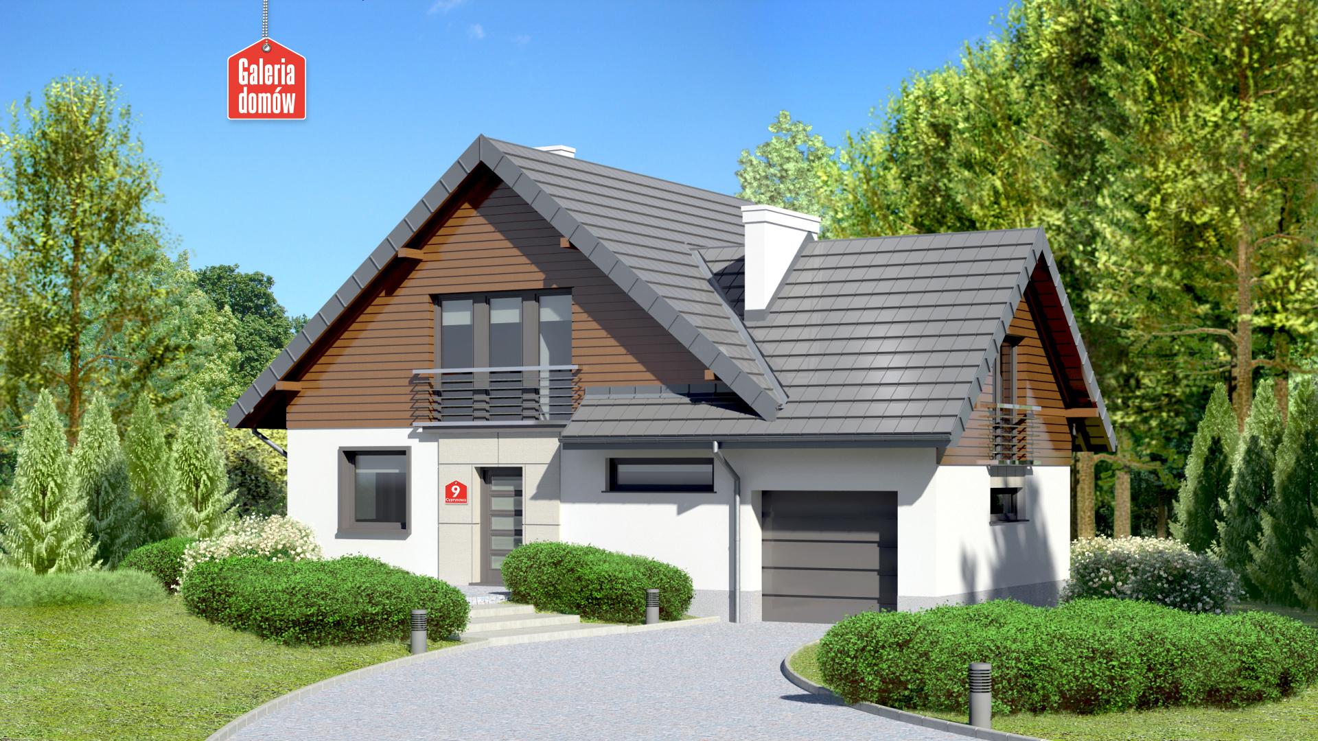 Dom przy Cyprysowej 9 - zdjęcie projektu i wizualizacja