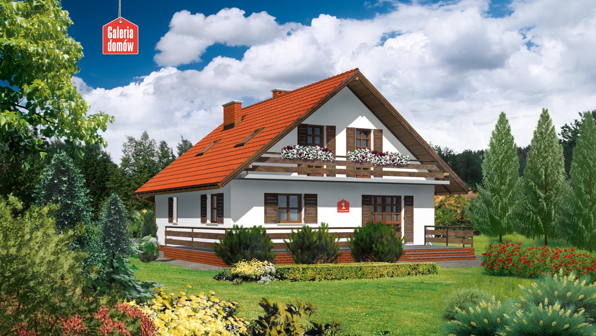 Dom przy Cyprysowej - zdjęcie projektu i wizualizacja